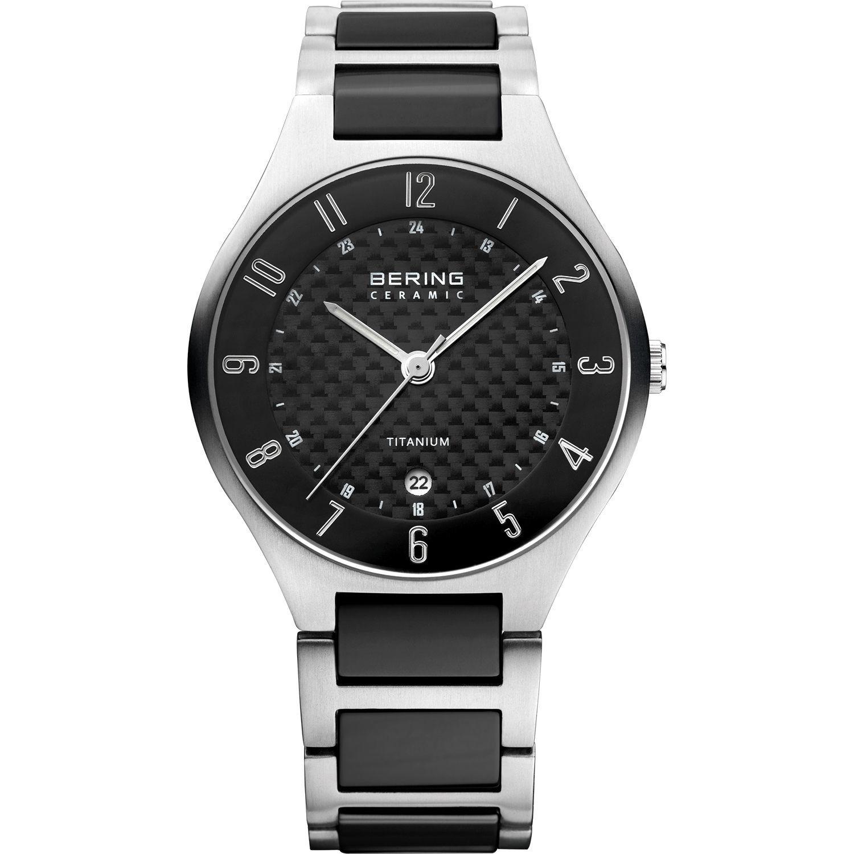 Bering 11739-702 - мужские наручные часы из коллекции TitaniumBering<br>мужские, сапфировое стекло, корпус из титана, браслет из титана со вставками из керамики черного цвета, циферблат карбон, центральная секундная стрелка, с числовым календарем<br><br>Бренд: Bering<br>Модель: Bering 11739-702<br>Артикул: 11739-702<br>Вариант артикула: ber-11739-702<br>Коллекция: Titanium<br>Подколлекция: None<br>Страна: Дания<br>Пол: мужские<br>Тип механизма: кварцевые<br>Механизм: None<br>Количество камней: None<br>Автоподзавод: None<br>Источник энергии: от батарейки<br>Срок службы элемента питания: None<br>Дисплей: стрелки<br>Цифры: арабские<br>Водозащита: WR 50<br>Противоударные: None<br>Материал корпуса: титан<br>Материал браслета: титан + керамика<br>Материал безеля: None<br>Стекло: сапфировое<br>Антибликовое покрытие: None<br>Цвет корпуса: серый<br>Цвет браслета: серебрянный<br>Цвет циферблата: None<br>Цвет безеля: None<br>Размеры: 39 мм<br>Диаметр: 39 мм<br>Диаметр корпуса: None<br>Толщина: None<br>Ширина ремешка: None<br>Вес: None<br>Спорт-функции: None<br>Подсветка: стрелок<br>Вставка: None<br>Отображение даты: число<br>Хронограф: None<br>Таймер: None<br>Термометр: None<br>Хронометр: None<br>GPS: None<br>Радиосинхронизация: None<br>Барометр: None<br>Скелетон: None<br>Дополнительная информация: None<br>Дополнительные функции: None