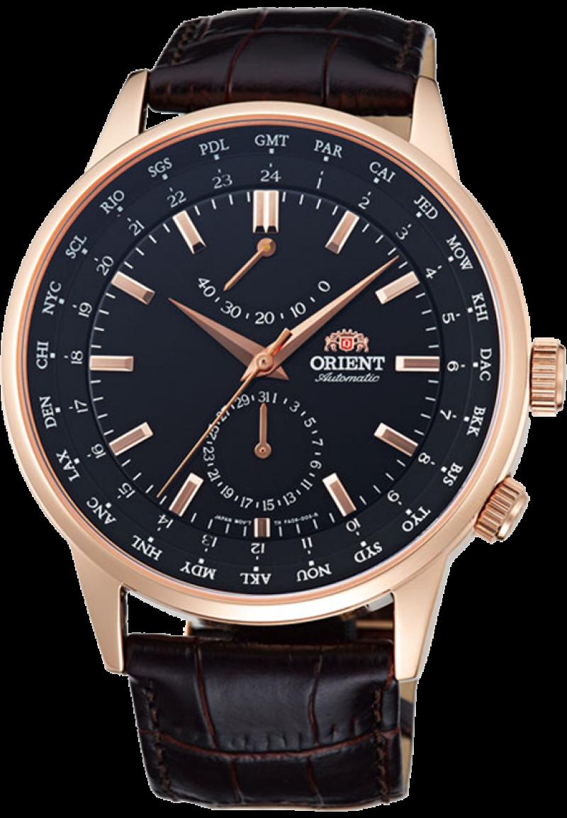Orient FA06001B / FFA06001B0 - мужские наручные часыORIENT<br><br><br>Бренд: ORIENT<br>Модель: ORIENT FA06001B<br>Артикул: FA06001B<br>Вариант артикула: FFA06001B0<br>Коллекция: None<br>Подколлекция: None<br>Страна: Япония<br>Пол: мужские<br>Тип механизма: механические<br>Механизм: ORIENT 46K40<br>Количество камней: None<br>Автоподзавод: есть<br>Источник энергии: пружинный механизм<br>Срок службы элемента питания: None<br>Дисплей: стрелки<br>Цифры: отсутствуют<br>Водозащита: WR 50<br>Противоударные: None<br>Материал корпуса: нерж. сталь, полное покрытие корпуса<br>Материал браслета: кожа<br>Материал безеля: None<br>Стекло: сапфировое<br>Антибликовое покрытие: есть<br>Цвет корпуса: None<br>Цвет браслета: None<br>Цвет циферблата: None<br>Цвет безеля: None<br>Размеры: 43.5x12.1 мм<br>Диаметр: None<br>Диаметр корпуса: None<br>Толщина: None<br>Ширина ремешка: None<br>Вес: None<br>Спорт-функции: None<br>Подсветка: None<br>Вставка: None<br>Отображение даты: число<br>Хронограф: None<br>Таймер: None<br>Термометр: None<br>Хронометр: None<br>GPS: None<br>Радиосинхронизация: None<br>Барометр: None<br>Скелетон: None<br>Дополнительная информация: прозрачная задняя крышка<br>Дополнительные функции: индикатор запаса хода, второй часовой пояс