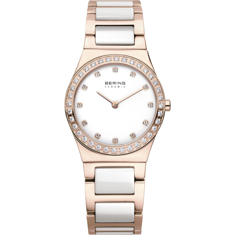 Bering 32430-761 - женские наручные часы из коллекции CeramicBering<br>rose gold, сапфировое стекло<br><br>Бренд: Bering<br>Модель: Bering 32430-761<br>Артикул: 32430-761<br>Вариант артикула: ber-32430-761<br>Коллекция: Ceramic<br>Подколлекция: None<br>Страна: Дания<br>Пол: женские<br>Тип механизма: кварцевые<br>Механизм: None<br>Количество камней: None<br>Автоподзавод: None<br>Источник энергии: от батарейки<br>Срок службы элемента питания: None<br>Дисплей: стрелки<br>Цифры: отсутствуют<br>Водозащита: WR 30<br>Противоударные: None<br>Материал корпуса: нерж. сталь, PVD покрытие: позолота (полное)<br>Материал браслета: нерж. сталь + керамика, PVD покрытие (частичное): позолота<br>Материал безеля: None<br>Стекло: сапфировое<br>Антибликовое покрытие: None<br>Цвет корпуса: розовое золото<br>Цвет браслета: розовое золото<br>Цвет циферблата: None<br>Цвет безеля: None<br>Размеры: 30x7 мм<br>Диаметр: 30 мм<br>Диаметр корпуса: None<br>Толщина: None<br>Ширина ремешка: None<br>Вес: None<br>Спорт-функции: None<br>Подсветка: None<br>Вставка: None<br>Отображение даты: None<br>Хронограф: None<br>Таймер: None<br>Термометр: None<br>Хронометр: None<br>GPS: None<br>Радиосинхронизация: None<br>Барометр: None<br>Скелетон: None<br>Дополнительная информация: None<br>Дополнительные функции: None