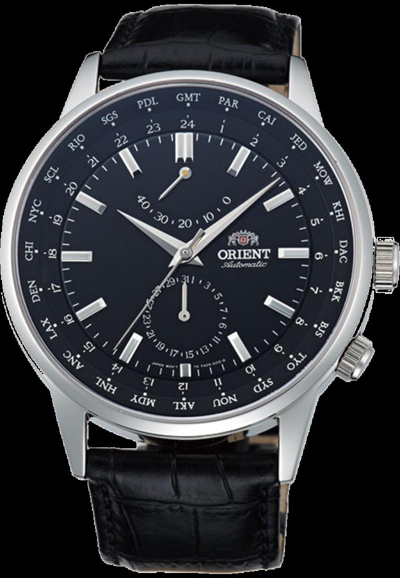 Orient FA06002B / FFA06002B0 - мужские наручные часыORIENT<br><br><br>Бренд: ORIENT<br>Модель: ORIENT FA06002B<br>Артикул: FA06002B<br>Вариант артикула: FFA06002B0<br>Коллекция: None<br>Подколлекция: None<br>Страна: Япония<br>Пол: мужские<br>Тип механизма: механические<br>Механизм: ORIENT 46K40<br>Количество камней: None<br>Автоподзавод: есть<br>Источник энергии: пружинный механизм<br>Срок службы элемента питания: None<br>Дисплей: стрелки<br>Цифры: отсутствуют<br>Водозащита: WR 50<br>Противоударные: None<br>Материал корпуса: нерж. сталь<br>Материал браслета: кожа<br>Материал безеля: None<br>Стекло: сапфировое<br>Антибликовое покрытие: есть<br>Цвет корпуса: None<br>Цвет браслета: None<br>Цвет циферблата: None<br>Цвет безеля: None<br>Размеры: 43.5x12.1 мм<br>Диаметр: None<br>Диаметр корпуса: None<br>Толщина: None<br>Ширина ремешка: None<br>Вес: None<br>Спорт-функции: None<br>Подсветка: None<br>Вставка: None<br>Отображение даты: число<br>Хронограф: None<br>Таймер: None<br>Термометр: None<br>Хронометр: None<br>GPS: None<br>Радиосинхронизация: None<br>Барометр: None<br>Скелетон: None<br>Дополнительная информация: прозрачная задняя крышка<br>Дополнительные функции: индикатор запаса хода, второй часовой пояс