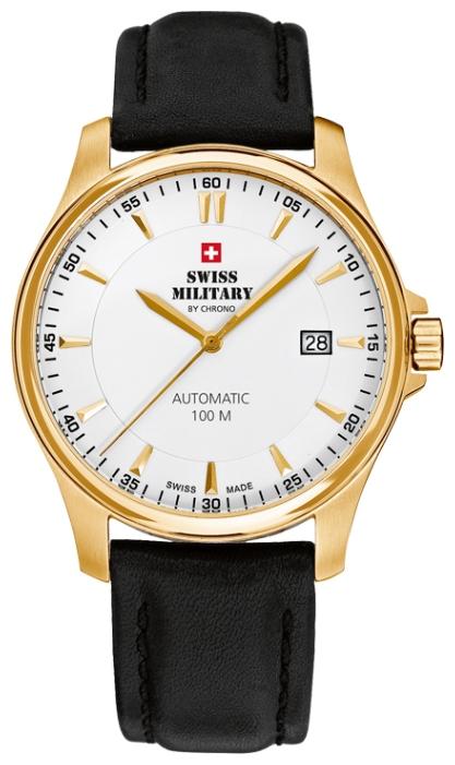 Swiss Military by Chrono SMA34025.08 - мужские наручные часы из коллекции Механические часыSwiss Military by Chrono<br><br><br>Бренд: Swiss Military by Chrono<br>Модель: Swiss Military by Chrono SMA34025.08<br>Артикул: SMA34025.08<br>Вариант артикула: None<br>Коллекция: Механические часы<br>Подколлекция: None<br>Страна: Швейцария<br>Пол: мужские<br>Тип механизма: None<br>Механизм: None<br>Количество камней: None<br>Автоподзавод: есть<br>Источник энергии: пружинный механизм<br>Срок службы элемента питания: None<br>Дисплей: стрелки<br>Цифры: отсутствуют<br>Водозащита: None<br>Противоударные: None<br>Материал корпуса: нерж. сталь, полное покрытие корпуса<br>Материал браслета: кожа<br>Материал безеля: None<br>Стекло: сапфировое<br>Антибликовое покрытие: None<br>Цвет корпуса: None<br>Цвет браслета: None<br>Цвет циферблата: None<br>Цвет безеля: None<br>Размеры: None<br>Диаметр: None<br>Диаметр корпуса: None<br>Толщина: механические<br>Ширина ремешка: None<br>Вес: None<br>Спорт-функции: None<br>Подсветка: None<br>Вставка: None<br>Отображение даты: число<br>Хронограф: None<br>Таймер: None<br>Термометр: None<br>Хронометр: None<br>GPS: None<br>Радиосинхронизация: None<br>Барометр: None<br>Скелетон: None<br>Дополнительная информация: None<br>Дополнительные функции: None