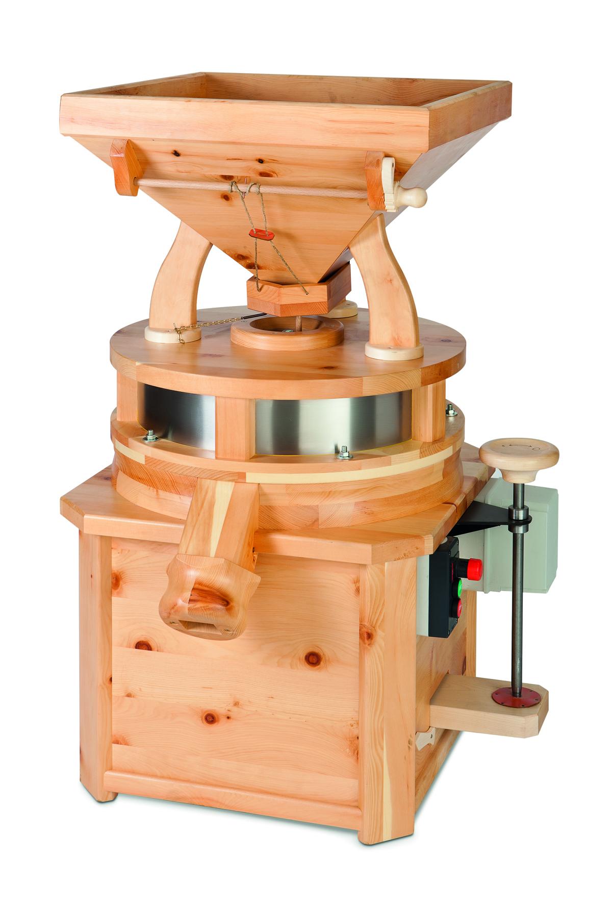Жерновая мельница для зерна