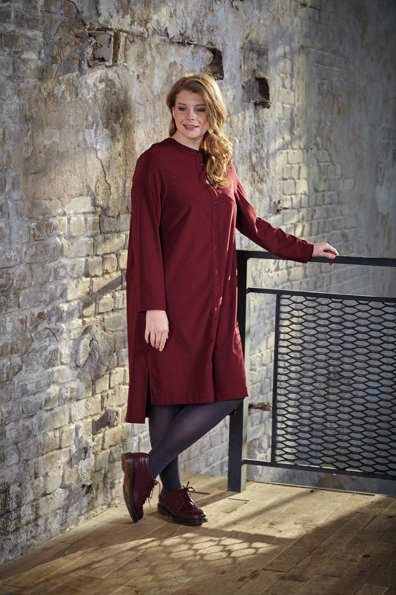 Платье-рубашка BASE-02 D12 DM08Платья<br>Хлопковое платье-рубашка,со стильным разноуровневым низом, свободное и очень удобное! Отлично сидит на любой фигуре и настолько комфортное, что от него невозможно устать! Актуально для любого сезона, является незаменимой частью вашего гардероба! Комбинируйте с жилетом и кардиганом, брюками и плотными колготами и выглядите всегда идеально!<br>