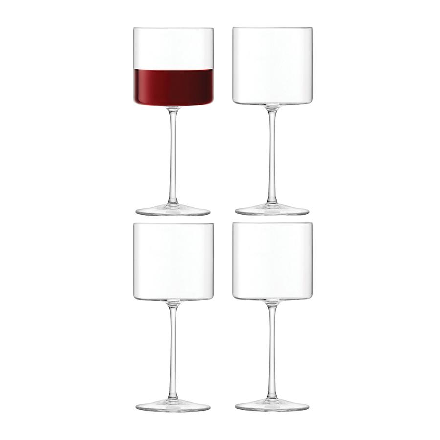 Набор из 4 бокалов для красного вина Otis 310 мл LSA G1284-11-301Бокалы и стаканы<br>Набор из 6 бокалов для красного вина из выдувного стекла. Объём 310 мл. Цилиндрическая форма бокалов станет эффектным завершающим штрихом для элегантной сервирвоки торжественного ужина, фуршета или вечеринки. Объём 360 мл. Бокалы можно комбинировать с другими предметами из коллекции Otis — креманками и винными бокалами. Они упакованы в красивую коробку и станут роскошным подарком другу, коллеге или любимому человеку. <br><br>Otis — дизайнеры вдохновились совершенством геометрической формы и создали эту уникальную коллекцию из кристально-прозрачного стекла ручного производства. Добавьте ноту арт-деко в сервировку любимых напитков.<br><br> Изделия из выдувного стекла рекомендуется мыть вручную в тёплой мыльной воде и вытирать насухо мягкой тканью. Иногда в готовом изделии из выдувного стекла встречаются пузырьки воздуха — это нормально и вполне допускается технологией ручного производства. Такие пузырьки воздуха внутри не являются браком.<br>