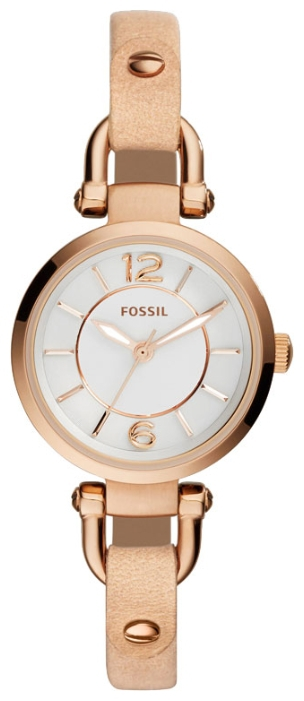 Fossil ES3745 - женские наручные часы из коллекции FashionFossil<br><br><br>Бренд: Fossil<br>Модель: Fossil ES3745<br>Артикул: ES3745<br>Вариант артикула: None<br>Коллекция: Fashion<br>Подколлекция: None<br>Страна: США<br>Пол: женские<br>Тип механизма: кварцевые<br>Механизм: None<br>Количество камней: None<br>Автоподзавод: None<br>Источник энергии: от батарейки<br>Срок службы элемента питания: None<br>Дисплей: стрелки<br>Цифры: арабские<br>Водозащита: WR 50<br>Противоударные: None<br>Материал корпуса: нерж. сталь, IP покрытие: позолота (полное)<br>Материал браслета: кожа (не указан)<br>Материал безеля: None<br>Стекло: минеральное<br>Антибликовое покрытие: None<br>Цвет корпуса: None<br>Цвет браслета: None<br>Цвет циферблата: None<br>Цвет безеля: None<br>Размеры: 26x9 мм<br>Диаметр: None<br>Диаметр корпуса: None<br>Толщина: None<br>Ширина ремешка: None<br>Вес: None<br>Спорт-функции: None<br>Подсветка: стрелок<br>Вставка: None<br>Отображение даты: None<br>Хронограф: None<br>Таймер: None<br>Термометр: None<br>Хронометр: None<br>GPS: None<br>Радиосинхронизация: None<br>Барометр: None<br>Скелетон: None<br>Дополнительная информация: None<br>Дополнительные функции: None