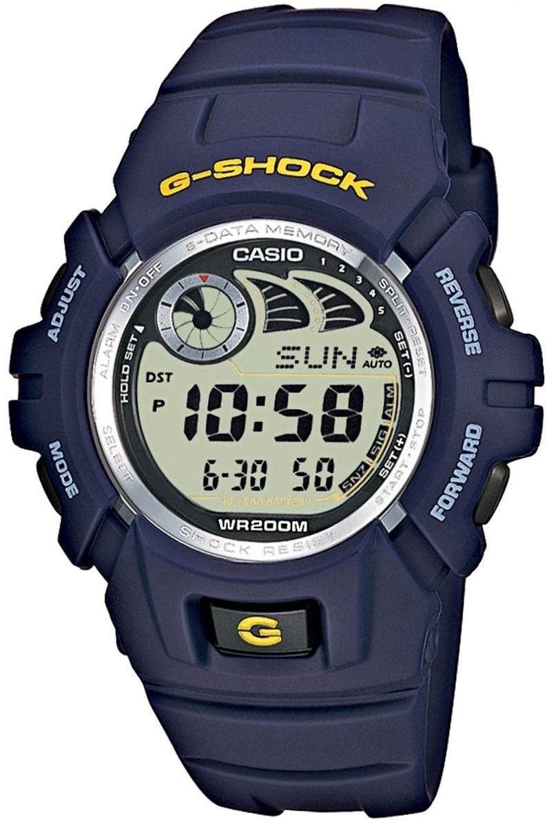 Casio G-SHOCK G-2900F-2V / G-2900F-2VER - мужские наручные часыCasio<br><br><br>Бренд: Casio<br>Модель: Casio G-2900F-2V<br>Артикул: G-2900F-2V<br>Вариант артикула: G-2900F-2VER<br>Коллекция: G-SHOCK<br>Подколлекция: None<br>Страна: Япония<br>Пол: мужские<br>Тип механизма: кварцевые<br>Механизм: None<br>Количество камней: None<br>Автоподзавод: None<br>Источник энергии: None<br>Срок службы элемента питания: None<br>Дисплей: цифры<br>Цифры: None<br>Водозащита: WR 200<br>Противоударные: None<br>Материал корпуса: нерж. сталь + пластик<br>Материал браслета: каучук<br>Материал безеля: None<br>Стекло: минеральное<br>Антибликовое покрытие: None<br>Цвет корпуса: None<br>Цвет браслета: None<br>Цвет циферблата: None<br>Цвет безеля: None<br>Размеры: 45.9x52.4x16.5 мм<br>Диаметр: None<br>Диаметр корпуса: None<br>Толщина: None<br>Ширина ремешка: None<br>Вес: None<br>Спорт-функции: None<br>Подсветка: None<br>Вставка: None<br>Отображение даты: число<br>Хронограф: None<br>Таймер: None<br>Термометр: None<br>Хронометр: None<br>GPS: None<br>Радиосинхронизация: None<br>Барометр: None<br>Скелетон: None<br>Дополнительная информация: None<br>Дополнительные функции: будильник (количество установок: 5)