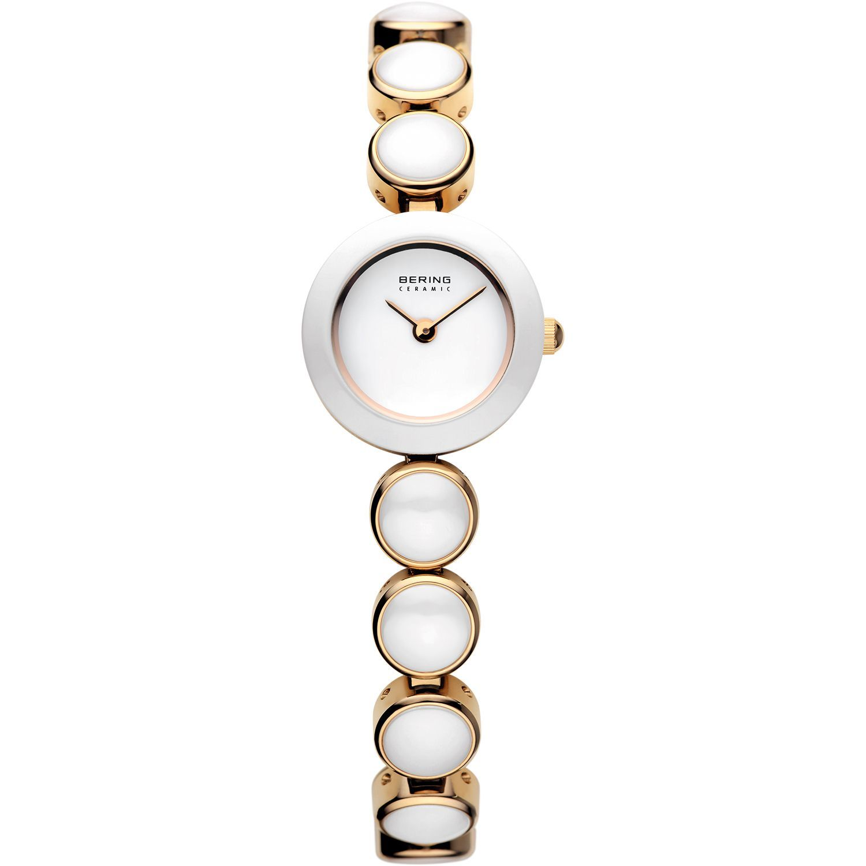 Bering 33220-751 - женские наручные часы из коллекции CeramicBering<br>женские, сапфировое стекло, корпус из нерж. стали с покрытием pvd золотого цвета с безелем из керамики белого цвета,  браслет из нерж. стали с покрытием pvd золотого цвета со вставками из керамики белого цвета, циферблат белого цвета<br><br>Бренд: Bering<br>Модель: Bering 33220-751<br>Артикул: 33220-751<br>Вариант артикула: ber-33220-751<br>Коллекция: Ceramic<br>Подколлекция: None<br>Страна: Дания<br>Пол: женские<br>Тип механизма: кварцевые<br>Механизм: None<br>Количество камней: None<br>Автоподзавод: None<br>Источник энергии: от батарейки<br>Срок службы элемента питания: None<br>Дисплей: стрелки<br>Цифры: отсутствуют<br>Водозащита: WR 50<br>Противоударные: None<br>Материал корпуса: нерж. сталь + керамика, PVD покрытие (частичное)<br>Материал браслета: нерж. сталь + керамика, PVD покрытие (частичное)<br>Материал безеля: керамика<br>Стекло: сапфировое<br>Антибликовое покрытие: None<br>Цвет корпуса: золотой<br>Цвет браслета: золотой<br>Цвет циферблата: None<br>Цвет безеля: белый<br>Размеры: 20 мм<br>Диаметр: 20 мм<br>Диаметр корпуса: None<br>Толщина: None<br>Ширина ремешка: None<br>Вес: None<br>Спорт-функции: None<br>Подсветка: None<br>Вставка: None<br>Отображение даты: None<br>Хронограф: None<br>Таймер: None<br>Термометр: None<br>Хронометр: None<br>GPS: None<br>Радиосинхронизация: None<br>Барометр: None<br>Скелетон: None<br>Дополнительная информация: None<br>Дополнительные функции: None