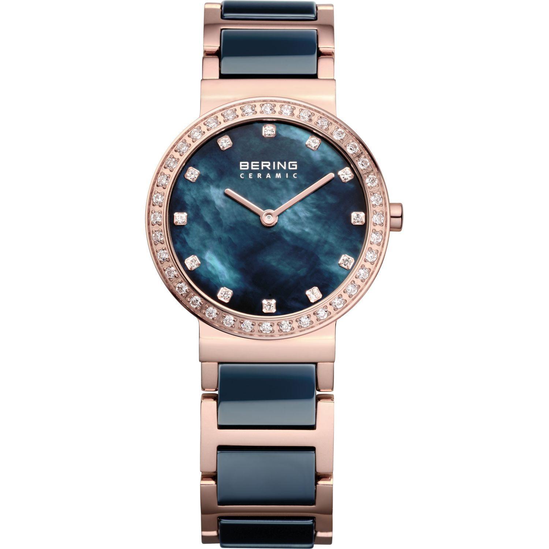 Bering 10729-767 - женские наручные часы из коллекции CeramicBering<br>rose gold, синяя керамика, перламутровый циферблат, сапфировое стекло<br><br>Бренд: Bering<br>Модель: Bering 10729-767<br>Артикул: 10729-767<br>Вариант артикула: ber-10729-767<br>Коллекция: Ceramic<br>Подколлекция: None<br>Страна: Дания<br>Пол: женские<br>Тип механизма: кварцевые<br>Механизм: None<br>Количество камней: None<br>Автоподзавод: None<br>Источник энергии: от батарейки<br>Срок службы элемента питания: None<br>Дисплей: стрелки<br>Цифры: отсутствуют<br>Водозащита: WR 50<br>Противоударные: None<br>Материал корпуса: нерж. сталь, IP покрытие: позолота (полное)<br>Материал браслета: нерж. сталь + керамика, IP покрытие (частичное): позолота<br>Материал безеля: None<br>Стекло: сапфировое<br>Антибликовое покрытие: None<br>Цвет корпуса: розовое золото<br>Цвет браслета: розовое золото<br>Цвет циферблата: None<br>Цвет безеля: None<br>Размеры: 29 мм<br>Диаметр: 29 мм<br>Диаметр корпуса: None<br>Толщина: None<br>Ширина ремешка: None<br>Вес: None<br>Спорт-функции: None<br>Подсветка: None<br>Вставка: кристаллы Swarovski<br>Отображение даты: None<br>Хронограф: None<br>Таймер: None<br>Термометр: None<br>Хронометр: None<br>GPS: None<br>Радиосинхронизация: None<br>Барометр: None<br>Скелетон: None<br>Дополнительная информация: None<br>Дополнительные функции: None