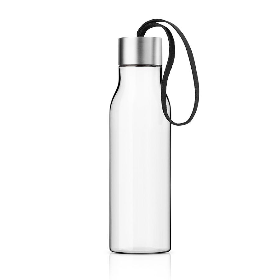 Бутылка 500 мл чёрная Eva Solo 503022Бутылочки<br>Бутылка 500 мл чёрная Eva Solo 503022<br><br>Очень удобная бутылка для воды, которую можно положить в сумку, взять с собой в офис или использовать на отдыхе. Она полностью герметична, её можно наполнять снова и снова, и тем самым уменьшить количество пластиковых бутылок, тем самым помогая сохранить окружающую среду. Бутылка сделана из пластика, не содержащего BPA, то есть бисфенола, вредных примесей и тяжёлых металлов. Бутылку можно мыть в посудомоечной машине, крышку - вручную.<br>