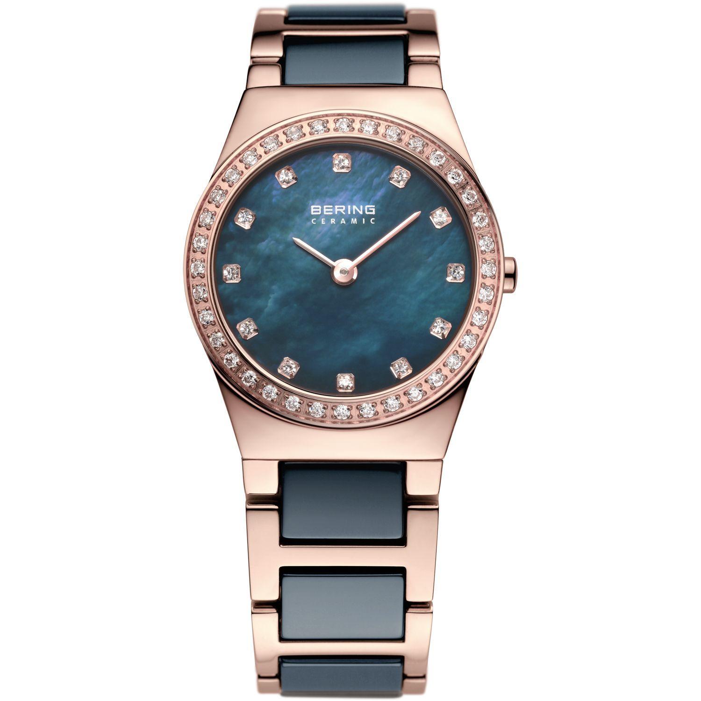 Bering 32426-767 - женские наручные часы из коллекции CeramicBering<br>rose gold, синяя керамика , перламутровый циферблат, сапфировое стекло<br><br>Бренд: Bering<br>Модель: Bering 32426-767<br>Артикул: 32426-767<br>Вариант артикула: ber-32426-767<br>Коллекция: Ceramic<br>Подколлекция: None<br>Страна: Дания<br>Пол: женские<br>Тип механизма: кварцевые<br>Механизм: None<br>Количество камней: None<br>Автоподзавод: None<br>Источник энергии: от батарейки<br>Срок службы элемента питания: None<br>Дисплей: стрелки<br>Цифры: отсутствуют<br>Водозащита: WR 50<br>Противоударные: None<br>Материал корпуса: нерж. сталь, IP покрытие: позолота (полное)<br>Материал браслета: нерж. сталь + керамика, IP покрытие (частичное): позолота<br>Материал безеля: None<br>Стекло: сапфировое<br>Антибликовое покрытие: None<br>Цвет корпуса: розовое золото<br>Цвет браслета: розовое золото<br>Цвет циферблата: None<br>Цвет безеля: None<br>Размеры: 26 мм<br>Диаметр: 26 мм<br>Диаметр корпуса: None<br>Толщина: None<br>Ширина ремешка: None<br>Вес: None<br>Спорт-функции: None<br>Подсветка: None<br>Вставка: кристаллы Swarovski<br>Отображение даты: None<br>Хронограф: None<br>Таймер: None<br>Термометр: None<br>Хронометр: None<br>GPS: None<br>Радиосинхронизация: None<br>Барометр: None<br>Скелетон: None<br>Дополнительная информация: None<br>Дополнительные функции: None