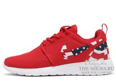 Кроссовки Женские Nike Roshe Run Red USA