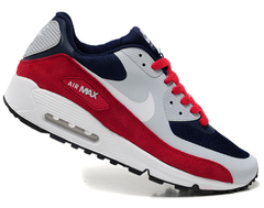 Кроссовки мужские Nike Air Max 90 HYP Premium Grey Blue Red