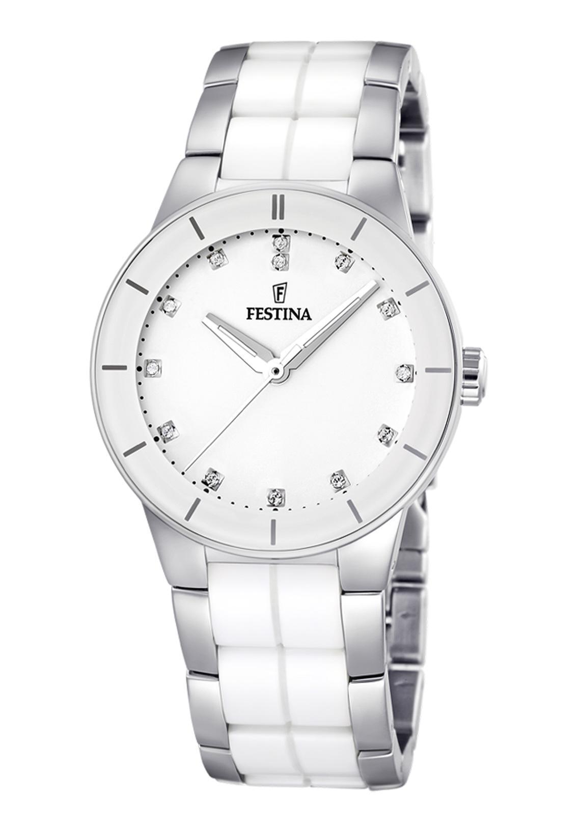 Festina F16531.3 - женские наручные часы из коллекции CeramicFestina<br><br><br>Бренд: Festina<br>Модель: Festina F16531/3<br>Артикул: F16531.3<br>Вариант артикула: None<br>Коллекция: Ceramic<br>Подколлекция: None<br>Страна: Испания<br>Пол: женские<br>Тип механизма: кварцевые<br>Механизм: MGL30<br>Количество камней: None<br>Автоподзавод: None<br>Источник энергии: от батарейки<br>Срок службы элемента питания: None<br>Дисплей: стрелки<br>Цифры: отсутствуют<br>Водозащита: WR 50<br>Противоударные: None<br>Материал корпуса: нерж. сталь + керамика<br>Материал браслета: нерж. сталь + керамика<br>Материал безеля: None<br>Стекло: минеральное<br>Антибликовое покрытие: None<br>Цвет корпуса: None<br>Цвет браслета: None<br>Цвет циферблата: None<br>Цвет безеля: None<br>Размеры: 35 мм<br>Диаметр: None<br>Диаметр корпуса: None<br>Толщина: None<br>Ширина ремешка: None<br>Вес: None<br>Спорт-функции: None<br>Подсветка: стрелок<br>Вставка: None<br>Отображение даты: None<br>Хронограф: None<br>Таймер: None<br>Термометр: None<br>Хронометр: None<br>GPS: None<br>Радиосинхронизация: None<br>Барометр: None<br>Скелетон: None<br>Дополнительная информация: None<br>Дополнительные функции: None