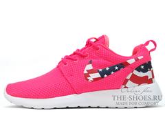 Кроссовки Женские Nike Roshe Run Pink USA
