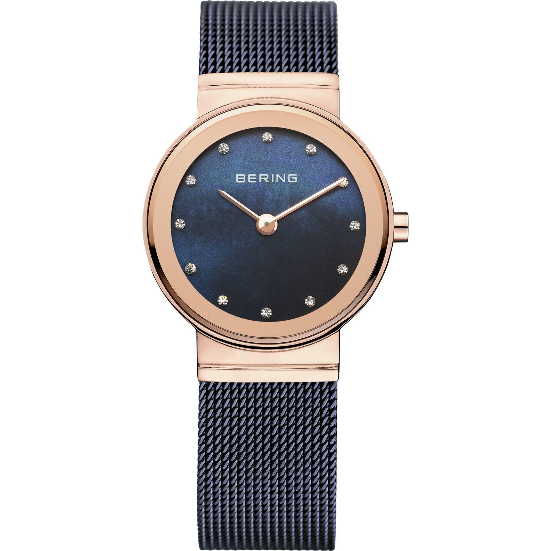 Bering 10126-367 - женские наручные часы из коллекции ClassicBering<br>rose gold, синий миланский браслет , перламутровый циферблат, сапфировое стекло<br><br>Бренд: Bering<br>Модель: Bering 10126-367<br>Артикул: 10126-367<br>Вариант артикула: ber-10126-367<br>Коллекция: Classic<br>Подколлекция: None<br>Страна: Дания<br>Пол: женские<br>Тип механизма: кварцевые<br>Механизм: None<br>Количество камней: None<br>Автоподзавод: None<br>Источник энергии: от батарейки<br>Срок службы элемента питания: None<br>Дисплей: стрелки<br>Цифры: отсутствуют<br>Водозащита: WR 50<br>Противоударные: None<br>Материал корпуса: нерж. сталь, IP покрытие: позолота (полное)<br>Материал браслета: нерж. сталь, IP покрытие (полное)<br>Материал безеля: None<br>Стекло: сапфировое<br>Антибликовое покрытие: None<br>Цвет корпуса: розовое золото<br>Цвет браслета: голубой<br>Цвет циферблата: None<br>Цвет безеля: None<br>Размеры: 26 мм<br>Диаметр: 26 мм<br>Диаметр корпуса: None<br>Толщина: None<br>Ширина ремешка: None<br>Вес: None<br>Спорт-функции: None<br>Подсветка: None<br>Вставка: кристаллы Swarovski<br>Отображение даты: None<br>Хронограф: None<br>Таймер: None<br>Термометр: None<br>Хронометр: None<br>GPS: None<br>Радиосинхронизация: None<br>Барометр: None<br>Скелетон: None<br>Дополнительная информация: None<br>Дополнительные функции: None