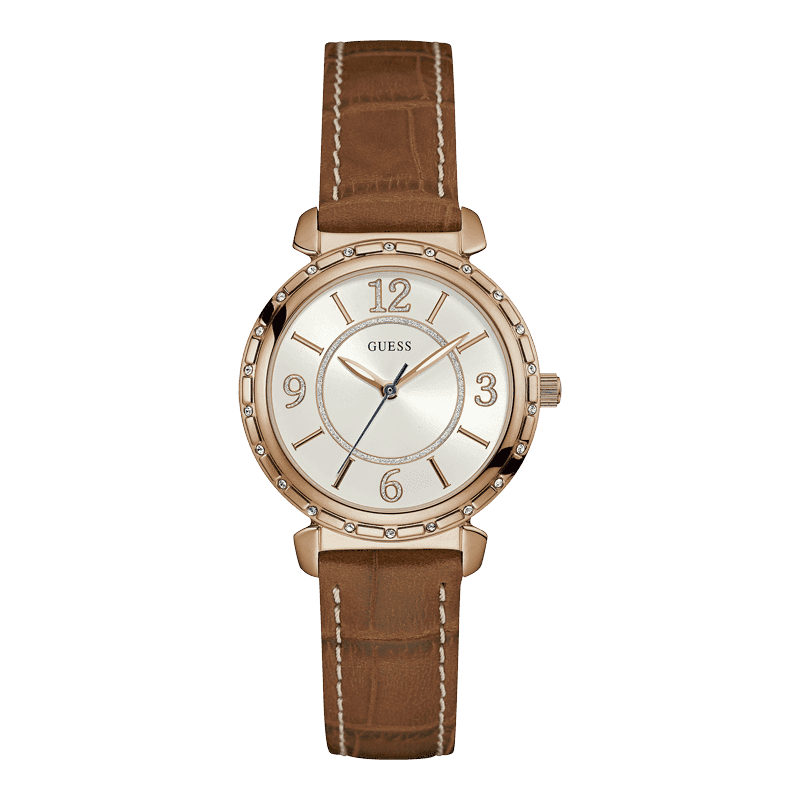 GUESS W0833L1 - женские наручные часы из коллекции IconicGUESS<br><br><br>Бренд: GUESS<br>Модель: GUESS W0833L1<br>Артикул: W0833L1<br>Вариант артикула: None<br>Коллекция: Iconic<br>Подколлекция: None<br>Страна: США<br>Пол: женские<br>Тип механизма: кварцевые<br>Механизм: None<br>Количество камней: None<br>Автоподзавод: None<br>Источник энергии: от батарейки<br>Срок службы элемента питания: None<br>Дисплей: стрелки<br>Цифры: римские<br>Водозащита: WR 30<br>Противоударные: None<br>Материал корпуса: нерж. сталь, полное покрытие корпуса<br>Материал браслета: кожа<br>Материал безеля: None<br>Стекло: минеральное<br>Антибликовое покрытие: None<br>Цвет корпуса: розовое золото<br>Цвет браслета: коричневый<br>Цвет циферблата: серебро<br>Цвет безеля: None<br>Размеры: 34x10 мм<br>Диаметр: None<br>Диаметр корпуса: None<br>Толщина: None<br>Ширина ремешка: None<br>Вес: None<br>Спорт-функции: None<br>Подсветка: None<br>Вставка: None<br>Отображение даты: None<br>Хронограф: None<br>Таймер: None<br>Термометр: None<br>Хронометр: None<br>GPS: None<br>Радиосинхронизация: None<br>Барометр: None<br>Скелетон: None<br>Дополнительная информация: None<br>Дополнительные функции: None