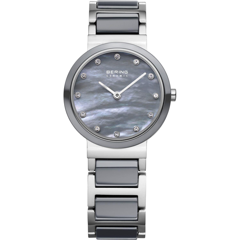 Bering 10725-789 - женские наручные часы из коллекции CeramicBering<br>серая керамика, перламутровый циферблат, сапфировое стекло<br><br>Бренд: Bering<br>Модель: Bering 10725-789<br>Артикул: 10725-789<br>Вариант артикула: ber-10725-789<br>Коллекция: Ceramic<br>Подколлекция: None<br>Страна: Дания<br>Пол: женские<br>Тип механизма: кварцевые<br>Механизм: None<br>Количество камней: None<br>Автоподзавод: None<br>Источник энергии: от батарейки<br>Срок службы элемента питания: None<br>Дисплей: стрелки<br>Цифры: отсутствуют<br>Водозащита: WR 50<br>Противоударные: None<br>Материал корпуса: нерж. сталь + керамика<br>Материал браслета: нерж. сталь + керамика<br>Материал безеля: керамика<br>Стекло: сапфировое<br>Антибликовое покрытие: None<br>Цвет корпуса: серебристый<br>Цвет браслета: серебрянный<br>Цвет циферблата: None<br>Цвет безеля: серый<br>Размеры: 25 мм<br>Диаметр: 25 мм<br>Диаметр корпуса: None<br>Толщина: None<br>Ширина ремешка: None<br>Вес: None<br>Спорт-функции: None<br>Подсветка: None<br>Вставка: кристаллы Swarovski<br>Отображение даты: None<br>Хронограф: None<br>Таймер: None<br>Термометр: None<br>Хронометр: None<br>GPS: None<br>Радиосинхронизация: None<br>Барометр: None<br>Скелетон: None<br>Дополнительная информация: None<br>Дополнительные функции: None