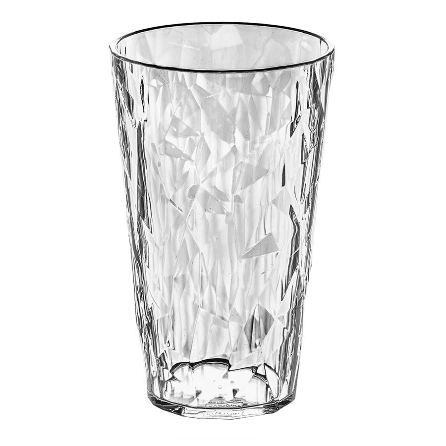 Стакан CLUB L, 400 мл, прозрачный Koziol 3578535Бокалы и стаканы<br>Бокалы CLUB создадут сказочное настроение - утром на солнечном свете они будут искриться, а вечером превратятся в волшебные кубки. <br>Коллекцию полимерной посуды CLUB высоко оценят любители&amp;nbsp,&amp;nbsp,шумных вечеринок, семейных застолий и встреч с друзьями: такая сверхлёгкая и ударопрочная посуда специально создана для удобной эксплуатации, а прозрачный кристальный дизайн - для бесконечного веселья.<br><br>Особенности:<br>- объем 400 мл<br>- весит мало, приятно держать в руках<br>- ударопрочность<br>