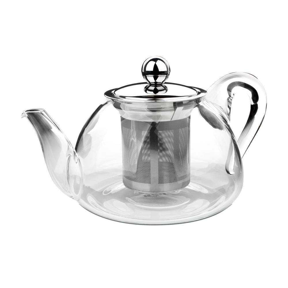 Чайник для кипячения и заваривания, стеклянный с фильтром 0,8 л IBILI Kristall арт. 621708Чайники заварочные<br>вид упаковки:подарочнаяматериал:стеклообъем (л):0.80предметов в наборе (штук):1страна:Испания<br><br>В этом стильном чайнике вы сможете легко и быстро заварить ваш любимый напиток и наслаждаться его насыщенным цветом сквозь стеклянные стенки. При этом удобная ручка чайника всегда остается холодной, а его носик сконструирован таким образом, что при наклоне ни одна капля не прольется мимо чашки.<br>Объемы френч-прессов этой серии 600 и 800 мл позволяют устроить домашнее чаепитие для всей семьи, а также угостить ароматным свежезаваренным напитком своих гостей. А благодаря элегантному классическому дизайну чайник способен стать достойным элементов сервировки любого стола, как повседневного, так и праздничного.<br>