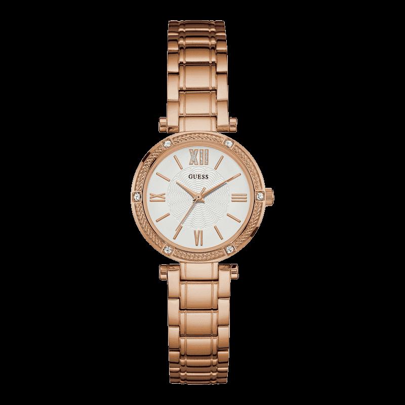 GUESS W0767L3 - женские наручные часы из коллекции IconicGUESS<br><br><br>Бренд: GUESS<br>Модель: GUESS W0767L3<br>Артикул: W0767L3<br>Вариант артикула: None<br>Коллекция: Iconic<br>Подколлекция: None<br>Страна: США<br>Пол: женские<br>Тип механизма: кварцевые<br>Механизм: None<br>Количество камней: None<br>Автоподзавод: None<br>Источник энергии: от батарейки<br>Срок службы элемента питания: None<br>Дисплей: стрелки<br>Цифры: римские<br>Водозащита: WR 30<br>Противоударные: None<br>Материал корпуса: нерж. сталь, полное покрытие корпуса<br>Материал браслета: нерж. сталь, полное дополнительное покрытие<br>Материал безеля: None<br>Стекло: минеральное<br>Антибликовое покрытие: None<br>Цвет корпуса: розовое золото<br>Цвет браслета: золото<br>Цвет циферблата: белый<br>Цвет безеля: None<br>Размеры: 30 мм<br>Диаметр: None<br>Диаметр корпуса: None<br>Толщина: None<br>Ширина ремешка: None<br>Вес: None<br>Спорт-функции: None<br>Подсветка: None<br>Вставка: None<br>Отображение даты: None<br>Хронограф: None<br>Таймер: None<br>Термометр: None<br>Хронометр: None<br>GPS: None<br>Радиосинхронизация: None<br>Барометр: None<br>Скелетон: None<br>Дополнительная информация: None<br>Дополнительные функции: None