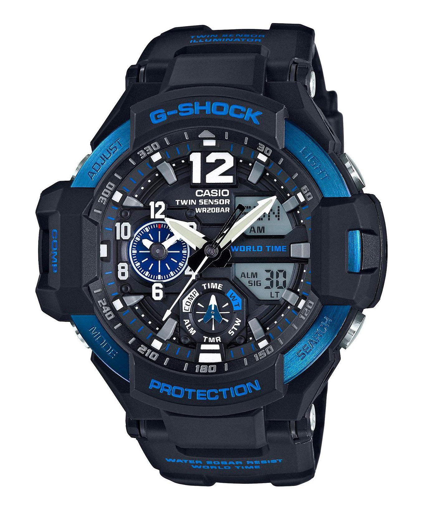 Casio G-SHOCK GA-1100-2B / GA-1100-2BER - мужские наручные часыCasio<br><br><br>Бренд: Casio<br>Модель: Casio GA-1100-2B<br>Артикул: GA-1100-2B<br>Вариант артикула: GA-1100-2BER<br>Коллекция: G-SHOCK<br>Подколлекция: None<br>Страна: Япония<br>Пол: мужские<br>Тип механизма: кварцевые<br>Механизм: None<br>Количество камней: None<br>Автоподзавод: None<br>Источник энергии: от батарейки<br>Срок службы элемента питания: None<br>Дисплей: стрелки + цифры<br>Цифры: арабские<br>Водозащита: WR 200<br>Противоударные: есть<br>Материал корпуса: нерж. сталь + пластик<br>Материал браслета: пластик<br>Материал безеля: None<br>Стекло: минеральное<br>Антибликовое покрытие: None<br>Цвет корпуса: None<br>Цвет браслета: None<br>Цвет циферблата: None<br>Цвет безеля: None<br>Размеры: None<br>Диаметр: None<br>Диаметр корпуса: None<br>Толщина: None<br>Ширина ремешка: None<br>Вес: 85 г<br>Спорт-функции: секундомер, таймер обратного отсчета, термометр, компас<br>Подсветка: дисплея, стрелок<br>Вставка: None<br>Отображение даты: вечный календарь, число, месяц, день недели<br>Хронограф: None<br>Таймер: None<br>Термометр: None<br>Хронометр: None<br>GPS: None<br>Радиосинхронизация: None<br>Барометр: None<br>Скелетон: None<br>Дополнительная информация: функция перемещения стрелок, ежечасный сигнал, функция включения/отключения звука кнопок, элемент питания SR927W ? 2, срок службы батарейки 2 года<br>Дополнительные функции: второй часовой пояс, будильник (количество установок: 5)