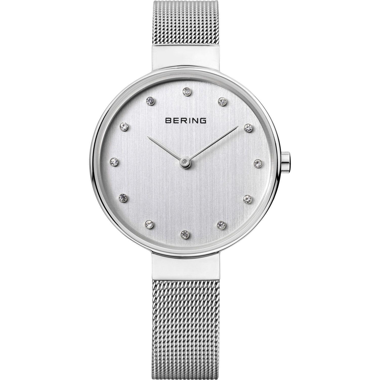 Bering 12034-000 - женские наручные часы из коллекции ClassicBering<br>женские, сапфировое стекло, корпус из нерж. стали,  браслет из нерж. стали, циферблат белого цвета с 12-ю кристаллами swarovski<br><br>Бренд: Bering<br>Модель: Bering 12034-000<br>Артикул: 12034-000<br>Вариант артикула: ber-12034-000<br>Коллекция: Classic<br>Подколлекция: None<br>Страна: Дания<br>Пол: женские<br>Тип механизма: кварцевые<br>Механизм: None<br>Количество камней: None<br>Автоподзавод: None<br>Источник энергии: от батарейки<br>Срок службы элемента питания: None<br>Дисплей: стрелки<br>Цифры: отсутствуют<br>Водозащита: WR 30<br>Противоударные: None<br>Материал корпуса: нерж. сталь<br>Материал браслета: нерж. сталь<br>Материал безеля: None<br>Стекло: сапфировое<br>Антибликовое покрытие: None<br>Цвет корпуса: серебристый<br>Цвет браслета: серебрянный<br>Цвет циферблата: None<br>Цвет безеля: None<br>Размеры: 34 мм<br>Диаметр: 34 мм<br>Диаметр корпуса: None<br>Толщина: None<br>Ширина ремешка: None<br>Вес: None<br>Спорт-функции: None<br>Подсветка: None<br>Вставка: кристаллы Swarovski<br>Отображение даты: None<br>Хронограф: None<br>Таймер: None<br>Термометр: None<br>Хронометр: None<br>GPS: None<br>Радиосинхронизация: None<br>Барометр: None<br>Скелетон: None<br>Дополнительная информация: None<br>Дополнительные функции: None