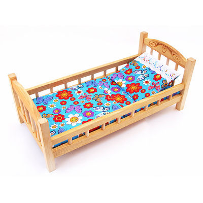 Кровать для кукол деревянная