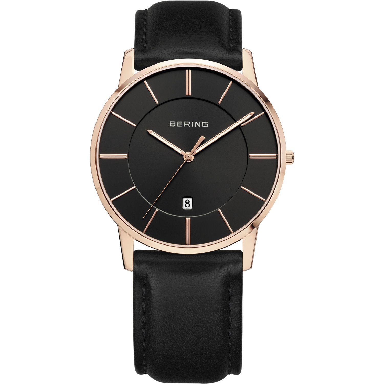 Bering 13139-466 - мужские наручные часы из коллекции ClassicBering<br>rose gold ,мужские, классические,  сапфировое стекло, дата<br><br>Бренд: Bering<br>Модель: Bering 13139-466<br>Артикул: 13139-466<br>Вариант артикула: ber-13139-466<br>Коллекция: Classic<br>Подколлекция: None<br>Страна: Дания<br>Пол: мужские<br>Тип механизма: кварцевые<br>Механизм: None<br>Количество камней: None<br>Автоподзавод: None<br>Источник энергии: от батарейки<br>Срок службы элемента питания: None<br>Дисплей: стрелки<br>Цифры: отсутствуют<br>Водозащита: WR 50<br>Противоударные: None<br>Материал корпуса: нерж. сталь, IP покрытие: позолота (полное)<br>Материал браслета: кожа (не указан)<br>Материал безеля: None<br>Стекло: сапфировое<br>Антибликовое покрытие: None<br>Цвет корпуса: розовое золото<br>Цвет браслета: черный<br>Цвет циферблата: None<br>Цвет безеля: None<br>Размеры: 40x7 мм<br>Диаметр: 39 мм<br>Диаметр корпуса: None<br>Толщина: None<br>Ширина ремешка: None<br>Вес: None<br>Спорт-функции: None<br>Подсветка: стрелок<br>Вставка: None<br>Отображение даты: число<br>Хронограф: None<br>Таймер: None<br>Термометр: None<br>Хронометр: None<br>GPS: None<br>Радиосинхронизация: None<br>Барометр: None<br>Скелетон: None<br>Дополнительная информация: None<br>Дополнительные функции: None