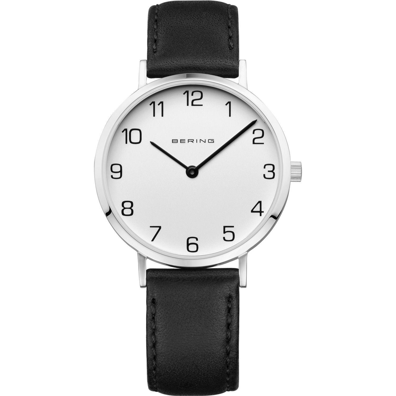 Bering 13934-404 - женские наручные часы из коллекции ClassicBering<br>женские, классические,  сапфировое стекло, ремешок из кожи теленка<br><br>Бренд: Bering<br>Модель: Bering 13934-404<br>Артикул: 13934-404<br>Вариант артикула: ber-13934-404<br>Коллекция: Classic<br>Подколлекция: None<br>Страна: Дания<br>Пол: женские<br>Тип механизма: кварцевые<br>Механизм: None<br>Количество камней: None<br>Автоподзавод: None<br>Источник энергии: от батарейки<br>Срок службы элемента питания: None<br>Дисплей: стрелки<br>Цифры: арабские<br>Водозащита: WR 30<br>Противоударные: None<br>Материал корпуса: нерж. сталь<br>Материал браслета: кожа (не указан)<br>Материал безеля: None<br>Стекло: сапфировое<br>Антибликовое покрытие: None<br>Цвет корпуса: серебристый<br>Цвет браслета: черный<br>Цвет циферблата: None<br>Цвет безеля: None<br>Размеры: 34 мм<br>Диаметр: 34 мм<br>Диаметр корпуса: None<br>Толщина: None<br>Ширина ремешка: None<br>Вес: None<br>Спорт-функции: None<br>Подсветка: None<br>Вставка: None<br>Отображение даты: None<br>Хронограф: None<br>Таймер: None<br>Термометр: None<br>Хронометр: None<br>GPS: None<br>Радиосинхронизация: None<br>Барометр: None<br>Скелетон: None<br>Дополнительная информация: None<br>Дополнительные функции: None