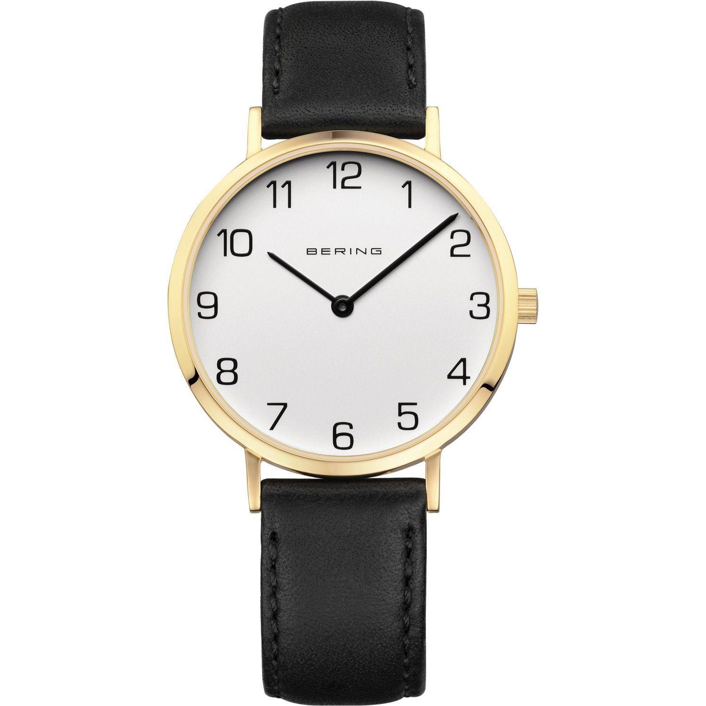 Bering 13934-434 - женские наручные часы из коллекции ClassicBering<br>женские, классические,  сапфировое стекло, ремешок из кожи теленка<br><br>Бренд: Bering<br>Модель: Bering 13934-434<br>Артикул: 13934-434<br>Вариант артикула: ber-13934-434<br>Коллекция: Classic<br>Подколлекция: None<br>Страна: Дания<br>Пол: женские<br>Тип механизма: кварцевые<br>Механизм: None<br>Количество камней: None<br>Автоподзавод: None<br>Источник энергии: от батарейки<br>Срок службы элемента питания: None<br>Дисплей: стрелки<br>Цифры: арабские<br>Водозащита: WR 30<br>Противоударные: None<br>Материал корпуса: нерж. сталь, IP покрытие: позолота (полное)<br>Материал браслета: кожа (не указан)<br>Материал безеля: None<br>Стекло: сапфировое<br>Антибликовое покрытие: None<br>Цвет корпуса: золотой<br>Цвет браслета: черный<br>Цвет циферблата: None<br>Цвет безеля: None<br>Размеры: 34 мм<br>Диаметр: 34 мм<br>Диаметр корпуса: None<br>Толщина: None<br>Ширина ремешка: None<br>Вес: None<br>Спорт-функции: None<br>Подсветка: None<br>Вставка: None<br>Отображение даты: None<br>Хронограф: None<br>Таймер: None<br>Термометр: None<br>Хронометр: None<br>GPS: None<br>Радиосинхронизация: None<br>Барометр: None<br>Скелетон: None<br>Дополнительная информация: None<br>Дополнительные функции: None