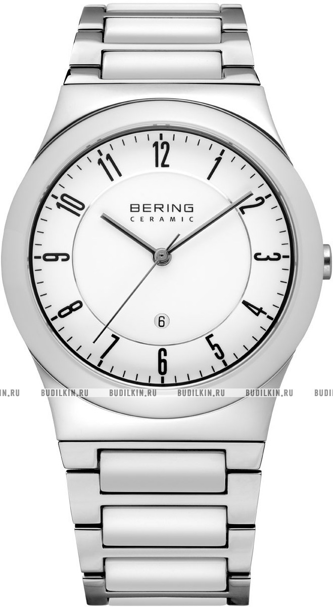 Bering 32235-754 - унисекс наручные часы из коллекции CeramicBering<br>сапфировое стекло, корпус из нерж. стали с безелем из керамики белого цвета,  браслет из стали с керамическими вставками белого цвета, циферблат белого цвета, с числовым календарем<br><br>Бренд: Bering<br>Модель: Bering 32235-754<br>Артикул: 32235-754<br>Вариант артикула: ber-32235-754<br>Коллекция: Ceramic<br>Подколлекция: None<br>Страна: Дания<br>Пол: унисекс<br>Тип механизма: кварцевые<br>Механизм: None<br>Количество камней: None<br>Автоподзавод: None<br>Источник энергии: от батарейки<br>Срок службы элемента питания: None<br>Дисплей: стрелки<br>Цифры: арабские<br>Водозащита: WR 50<br>Противоударные: None<br>Материал корпуса: нерж. сталь + керамика<br>Материал браслета: нерж. сталь + керамика<br>Материал безеля: None<br>Стекло: сапфировое<br>Антибликовое покрытие: None<br>Цвет корпуса: None<br>Цвет браслета: None<br>Цвет циферблата: None<br>Цвет безеля: None<br>Размеры: 35 мм<br>Диаметр: None<br>Диаметр корпуса: None<br>Толщина: None<br>Ширина ремешка: None<br>Вес: None<br>Спорт-функции: None<br>Подсветка: None<br>Вставка: None<br>Отображение даты: число<br>Хронограф: None<br>Таймер: None<br>Термометр: None<br>Хронометр: None<br>GPS: None<br>Радиосинхронизация: None<br>Барометр: None<br>Скелетон: None<br>Дополнительная информация: None<br>Дополнительные функции: None