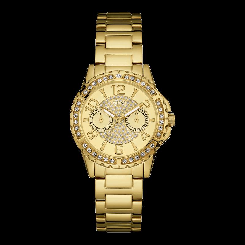GUESS W0705L2 - женские наручные часы из коллекции IconicGUESS<br><br><br>Бренд: GUESS<br>Модель: GUESS W0705L2<br>Артикул: W0705L2<br>Вариант артикула: None<br>Коллекция: Iconic<br>Подколлекция: None<br>Страна: США<br>Пол: женские<br>Тип механизма: кварцевые<br>Механизм: None<br>Количество камней: None<br>Автоподзавод: None<br>Источник энергии: от батарейки<br>Срок службы элемента питания: None<br>Дисплей: стрелки<br>Цифры: арабские<br>Водозащита: WR 50<br>Противоударные: None<br>Материал корпуса: нерж. сталь, полное покрытие корпуса<br>Материал браслета: нерж. сталь, полное дополнительное покрытие<br>Материал безеля: None<br>Стекло: минеральное<br>Антибликовое покрытие: None<br>Цвет корпуса: золото<br>Цвет браслета: золото<br>Цвет циферблата: золото<br>Цвет безеля: None<br>Размеры: 36x11 мм<br>Диаметр: None<br>Диаметр корпуса: None<br>Толщина: None<br>Ширина ремешка: None<br>Вес: None<br>Спорт-функции: None<br>Подсветка: стрелок<br>Вставка: None<br>Отображение даты: число, день недели<br>Хронограф: None<br>Таймер: None<br>Термометр: None<br>Хронометр: None<br>GPS: None<br>Радиосинхронизация: None<br>Барометр: None<br>Скелетон: None<br>Дополнительная информация: None<br>Дополнительные функции: None