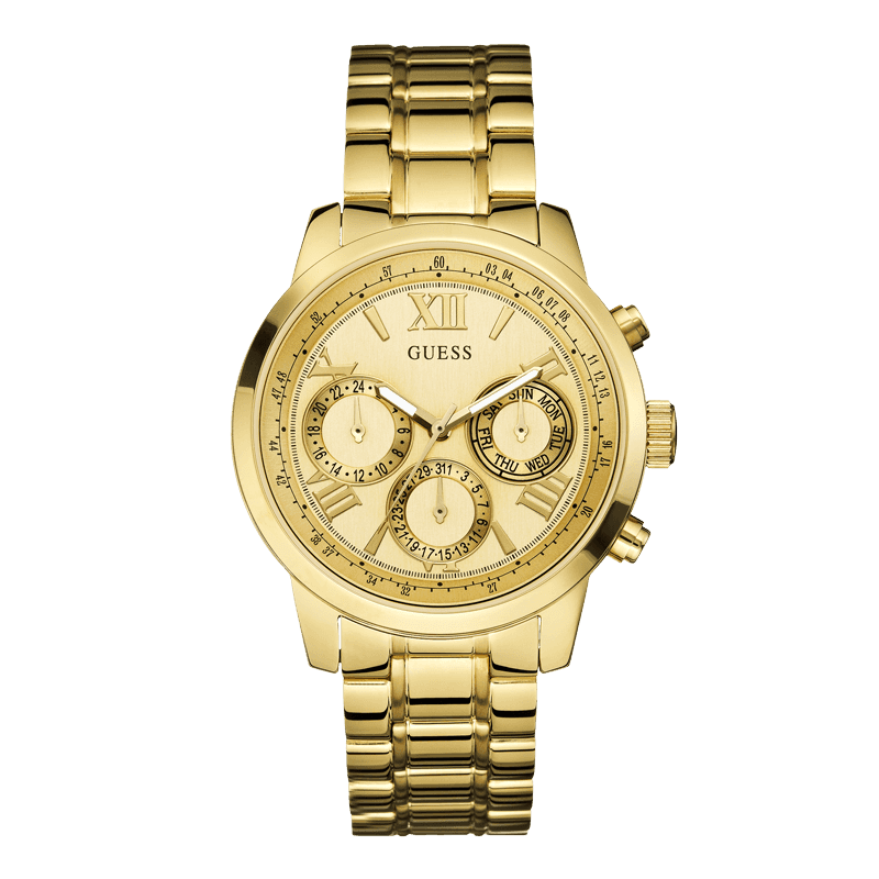 GUESS W0330L1 - женские наручные часы из коллекции IconicGUESS<br><br><br>Бренд: GUESS<br>Модель: GUESS W0330L1<br>Артикул: W0330L1<br>Вариант артикула: None<br>Коллекция: Iconic<br>Подколлекция: None<br>Страна: США<br>Пол: женские<br>Тип механизма: кварцевые<br>Механизм: None<br>Количество камней: None<br>Автоподзавод: None<br>Источник энергии: от батарейки<br>Срок службы элемента питания: None<br>Дисплей: стрелки<br>Цифры: римские<br>Водозащита: WR 50<br>Противоударные: None<br>Материал корпуса: нерж. сталь, полное покрытие корпуса<br>Материал браслета: нерж. сталь, полное дополнительное покрытие<br>Материал безеля: None<br>Стекло: минеральное<br>Антибликовое покрытие: None<br>Цвет корпуса: золото<br>Цвет браслета: золото<br>Цвет циферблата: цвет шампанского<br>Цвет безеля: None<br>Размеры: None<br>Диаметр: None<br>Диаметр корпуса: None<br>Толщина: None<br>Ширина ремешка: None<br>Вес: None<br>Спорт-функции: None<br>Подсветка: None<br>Вставка: None<br>Отображение даты: число, день недели<br>Хронограф: None<br>Таймер: None<br>Термометр: None<br>Хронометр: None<br>GPS: None<br>Радиосинхронизация: None<br>Барометр: None<br>Скелетон: None<br>Дополнительная информация: None<br>Дополнительные функции: None
