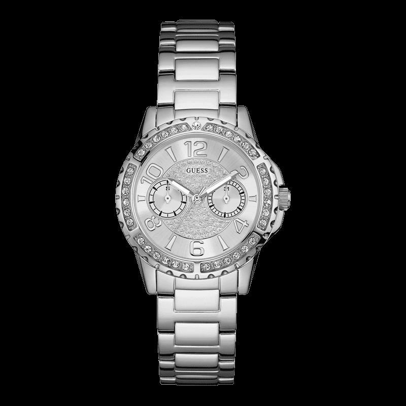 GUESS W0705L1 - женские наручные часы из коллекции IconicGUESS<br><br><br>Бренд: GUESS<br>Модель: GUESS W0705L1<br>Артикул: W0705L1<br>Вариант артикула: None<br>Коллекция: Iconic<br>Подколлекция: None<br>Страна: США<br>Пол: женские<br>Тип механизма: кварцевые<br>Механизм: None<br>Количество камней: None<br>Автоподзавод: None<br>Источник энергии: от батарейки<br>Срок службы элемента питания: None<br>Дисплей: стрелки<br>Цифры: арабские<br>Водозащита: WR 50<br>Противоударные: None<br>Материал корпуса: нерж. сталь<br>Материал браслета: нерж. сталь<br>Материал безеля: None<br>Стекло: минеральное<br>Антибликовое покрытие: None<br>Цвет корпуса: серебро<br>Цвет браслета: серебро<br>Цвет циферблата: серебро<br>Цвет безеля: None<br>Размеры: 36x11 мм<br>Диаметр: None<br>Диаметр корпуса: None<br>Толщина: None<br>Ширина ремешка: None<br>Вес: None<br>Спорт-функции: None<br>Подсветка: стрелок<br>Вставка: None<br>Отображение даты: число, день недели<br>Хронограф: None<br>Таймер: None<br>Термометр: None<br>Хронометр: None<br>GPS: None<br>Радиосинхронизация: None<br>Барометр: None<br>Скелетон: None<br>Дополнительная информация: None<br>Дополнительные функции: None