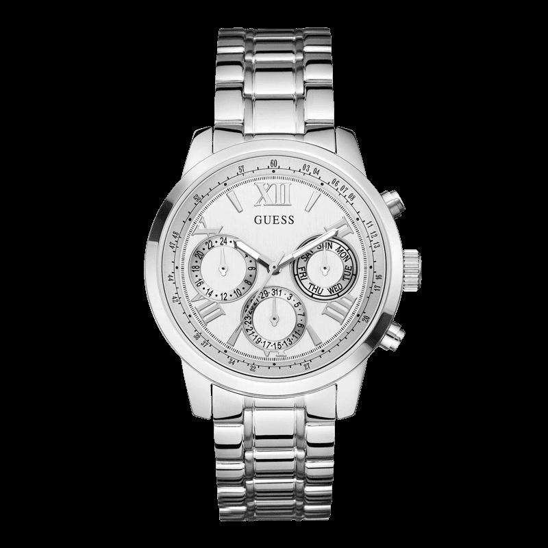 GUESS W0330L3 - женские наручные часы из коллекции IconicGUESS<br><br><br>Бренд: GUESS<br>Модель: GUESS W0330L3<br>Артикул: W0330L3<br>Вариант артикула: None<br>Коллекция: Iconic<br>Подколлекция: None<br>Страна: США<br>Пол: женские<br>Тип механизма: кварцевые<br>Механизм: None<br>Количество камней: None<br>Автоподзавод: None<br>Источник энергии: от батарейки<br>Срок службы элемента питания: None<br>Дисплей: стрелки<br>Цифры: римские<br>Водозащита: WR 50<br>Противоударные: None<br>Материал корпуса: нерж. сталь<br>Материал браслета: нерж. сталь<br>Материал безеля: None<br>Стекло: минеральное<br>Антибликовое покрытие: None<br>Цвет корпуса: серебро<br>Цвет браслета: серебро<br>Цвет циферблата: белый<br>Цвет безеля: None<br>Размеры: None<br>Диаметр: None<br>Диаметр корпуса: None<br>Толщина: None<br>Ширина ремешка: None<br>Вес: None<br>Спорт-функции: None<br>Подсветка: None<br>Вставка: None<br>Отображение даты: число, день недели<br>Хронограф: None<br>Таймер: None<br>Термометр: None<br>Хронометр: None<br>GPS: None<br>Радиосинхронизация: None<br>Барометр: None<br>Скелетон: None<br>Дополнительная информация: None<br>Дополнительные функции: None