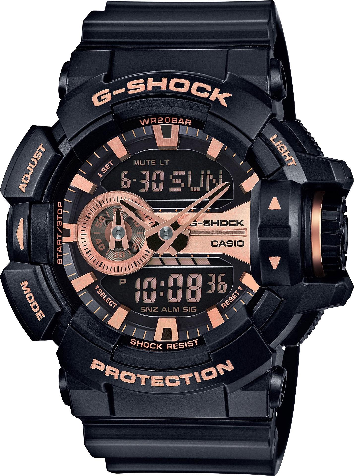 Casio G-SHOCK GA-400GB-1A4 / GA-400GB-1A4ER - мужские наручные часыCasio<br><br><br>Бренд: Casio<br>Модель: Casio GA-400GB-1A4<br>Артикул: GA-400GB-1A4<br>Вариант артикула: GA-400GB-1A4ER<br>Коллекция: G-SHOCK<br>Подколлекция: None<br>Страна: Япония<br>Пол: мужские<br>Тип механизма: кварцевые<br>Механизм: None<br>Количество камней: None<br>Автоподзавод: None<br>Источник энергии: от батарейки<br>Срок службы элемента питания: 36 мес<br>Дисплей: None<br>Цифры: отсутствуют<br>Водозащита: WR 200<br>Противоударные: есть<br>Материал корпуса: пластик<br>Материал браслета: пластик<br>Материал безеля: None<br>Стекло: минеральное<br>Антибликовое покрытие: None<br>Цвет корпуса: None<br>Цвет браслета: None<br>Цвет циферблата: None<br>Цвет безеля: None<br>Размеры: None<br>Диаметр: None<br>Диаметр корпуса: None<br>Толщина: None<br>Ширина ремешка: None<br>Вес: 70 г<br>Спорт-функции: секундомер, таймер обратного отсчета<br>Подсветка: дисплея<br>Вставка: None<br>Отображение даты: вечный календарь, число, месяц, день недели<br>Хронограф: None<br>Таймер: None<br>Термометр: None<br>Хронометр: None<br>GPS: None<br>Радиосинхронизация: None<br>Барометр: None<br>Скелетон: None<br>Дополнительная информация: защита от магнитных полей, ежечасный сигнал, повтор сигнала будильника, автоподсветка, функция включения/отключения звука кнопок, элемент питания SR927W ? 2<br>Дополнительные функции: второй часовой пояс, будильник (количество установок: 5)