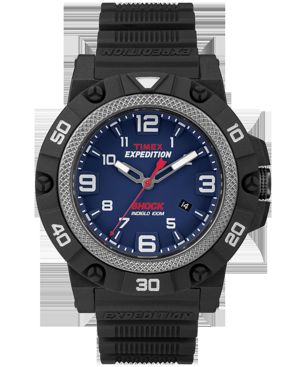 Timex TW4B01100 - мужские наручные часы из коллекции ExpeditionTimex<br><br><br>Бренд: Timex<br>Модель: Timex TW4B01100<br>Артикул: TW4B01100<br>Вариант артикула: None<br>Коллекция: Expedition<br>Подколлекция: Field Shock<br>Страна: США<br>Пол: мужские<br>Тип механизма: кварцевые<br>Механизм: None<br>Количество камней: None<br>Автоподзавод: None<br>Источник энергии: от батарейки<br>Срок службы элемента питания: None<br>Дисплей: стрелки<br>Цифры: арабские<br>Водозащита: WR 100<br>Противоударные: None<br>Материал корпуса: нерж. сталь + пластик<br>Материал браслета: пластик<br>Материал безеля: None<br>Стекло: пластиковое<br>Антибликовое покрытие: None<br>Цвет корпуса: None<br>Цвет браслета: None<br>Цвет циферблата: None<br>Цвет безеля: None<br>Размеры: 46 мм<br>Диаметр: None<br>Диаметр корпуса: None<br>Толщина: None<br>Ширина ремешка: None<br>Вес: None<br>Спорт-функции: None<br>Подсветка: Indiglo<br>Вставка: None<br>Отображение даты: число<br>Хронограф: None<br>Таймер: None<br>Термометр: None<br>Хронометр: None<br>GPS: None<br>Радиосинхронизация: None<br>Барометр: None<br>Скелетон: None<br>Дополнительная информация: None<br>Дополнительные функции: None