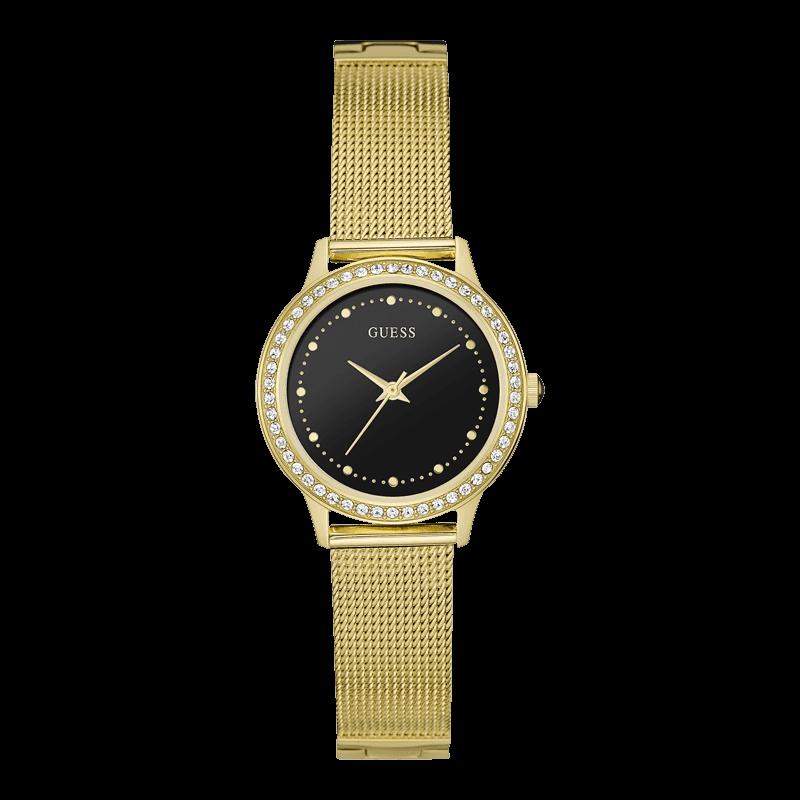 GUESS W0647L8 - женские наручные часы из коллекции IconicGUESS<br><br><br>Бренд: GUESS<br>Модель: GUESS W0647L8<br>Артикул: W0647L8<br>Вариант артикула: None<br>Коллекция: Iconic<br>Подколлекция: None<br>Страна: США<br>Пол: женские<br>Тип механизма: кварцевые<br>Механизм: None<br>Количество камней: None<br>Автоподзавод: None<br>Источник энергии: от батарейки<br>Срок службы элемента питания: None<br>Дисплей: стрелки<br>Цифры: отсутствуют<br>Водозащита: WR 30<br>Противоударные: None<br>Материал корпуса: нерж. сталь, полное покрытие корпуса<br>Материал браслета: нерж. сталь, полное дополнительное покрытие<br>Материал безеля: None<br>Стекло: минеральное<br>Антибликовое покрытие: None<br>Цвет корпуса: золото<br>Цвет браслета: золото<br>Цвет циферблата: черный<br>Цвет безеля: None<br>Размеры: 30x8 мм<br>Диаметр: None<br>Диаметр корпуса: None<br>Толщина: None<br>Ширина ремешка: None<br>Вес: None<br>Спорт-функции: None<br>Подсветка: None<br>Вставка: None<br>Отображение даты: None<br>Хронограф: None<br>Таймер: None<br>Термометр: None<br>Хронометр: None<br>GPS: None<br>Радиосинхронизация: None<br>Барометр: None<br>Скелетон: None<br>Дополнительная информация: None<br>Дополнительные функции: None
