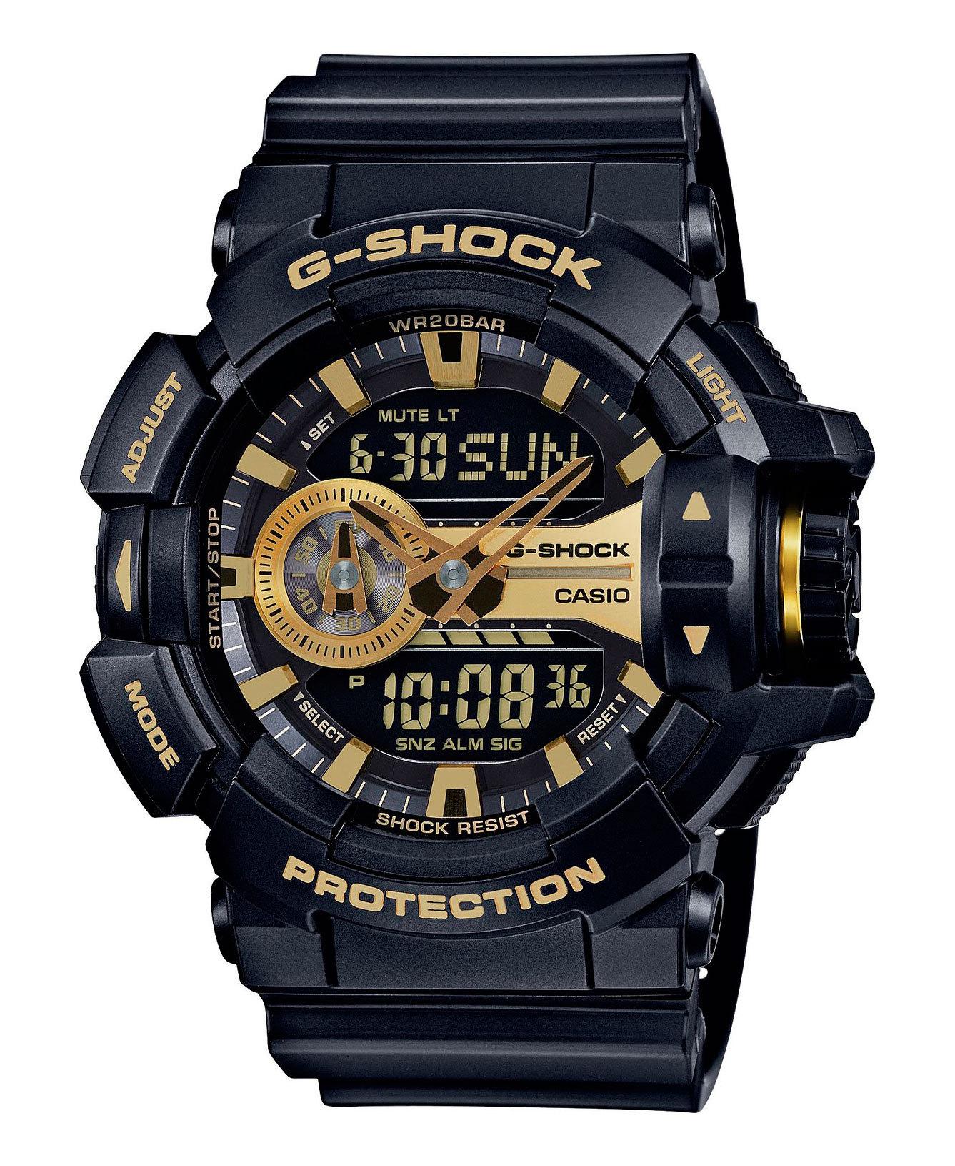 Casio G-SHOCK GA-400GB-1A9 / GA-400GB-1A9ER - мужские наручные часыCasio<br><br><br>Бренд: Casio<br>Модель: Casio GA-400GB-1A9<br>Артикул: GA-400GB-1A9<br>Вариант артикула: GA-400GB-1A9ER<br>Коллекция: G-SHOCK<br>Подколлекция: None<br>Страна: Япония<br>Пол: мужские<br>Тип механизма: кварцевые<br>Механизм: None<br>Количество камней: None<br>Автоподзавод: None<br>Источник энергии: от батарейки<br>Срок службы элемента питания: 36 мес<br>Дисплей: None<br>Цифры: отсутствуют<br>Водозащита: WR 200<br>Противоударные: есть<br>Материал корпуса: пластик<br>Материал браслета: пластик<br>Материал безеля: None<br>Стекло: минеральное<br>Антибликовое покрытие: None<br>Цвет корпуса: None<br>Цвет браслета: None<br>Цвет циферблата: None<br>Цвет безеля: None<br>Размеры: None<br>Диаметр: None<br>Диаметр корпуса: None<br>Толщина: None<br>Ширина ремешка: None<br>Вес: 70 г<br>Спорт-функции: секундомер, таймер обратного отсчета<br>Подсветка: дисплея<br>Вставка: None<br>Отображение даты: вечный календарь, число, месяц, день недели<br>Хронограф: None<br>Таймер: None<br>Термометр: None<br>Хронометр: None<br>GPS: None<br>Радиосинхронизация: None<br>Барометр: None<br>Скелетон: None<br>Дополнительная информация: защита от магнитных полей, ежечасный сигнал, повтор сигнала будильника, автоподсветка, функция включения/отключения звука кнопок, элемент питания SR927W ? 2<br>Дополнительные функции: второй часовой пояс, будильник (количество установок: 5)