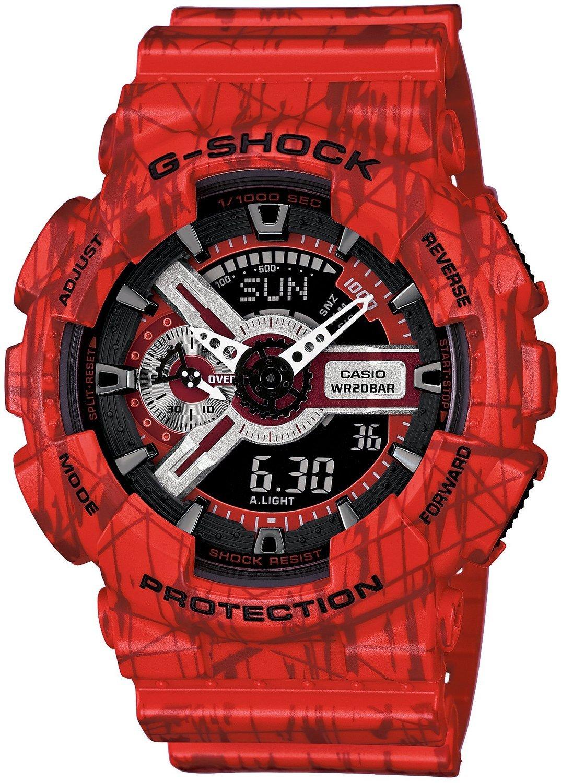 Casio G-SHOCK GA-110SL-4A / GA-110SL-4AER - мужские наручные часыCasio<br><br><br>Бренд: Casio<br>Модель: Casio GA-110SL-4A<br>Артикул: GA-110SL-4A<br>Вариант артикула: GA-110SL-4AER<br>Коллекция: G-SHOCK<br>Подколлекция: None<br>Страна: Япония<br>Пол: мужские<br>Тип механизма: кварцевые<br>Механизм: None<br>Количество камней: None<br>Автоподзавод: None<br>Источник энергии: от батарейки<br>Срок службы элемента питания: None<br>Дисплей: стрелки + цифры<br>Цифры: отсутствуют<br>Водозащита: WR 200<br>Противоударные: есть<br>Материал корпуса: пластик<br>Материал браслета: пластик<br>Материал безеля: None<br>Стекло: минеральное<br>Антибликовое покрытие: None<br>Цвет корпуса: None<br>Цвет браслета: None<br>Цвет циферблата: None<br>Цвет безеля: None<br>Размеры: None<br>Диаметр: None<br>Диаметр корпуса: None<br>Толщина: None<br>Ширина ремешка: None<br>Вес: 72 г<br>Спорт-функции: секундомер, таймер обратного отсчета<br>Подсветка: дисплея, стрелок<br>Вставка: None<br>Отображение даты: вечный календарь, число, месяц, день недели<br>Хронограф: None<br>Таймер: None<br>Термометр: None<br>Хронометр: None<br>GPS: None<br>Радиосинхронизация: None<br>Барометр: None<br>Скелетон: None<br>Дополнительная информация: ежечасный сигнал, повтор сигнала будильника, защита от магнитных полей, элемент питания CR1220, срок службы батарейки 2 года<br>Дополнительные функции: второй часовой пояс, будильник (количество установок: 5)