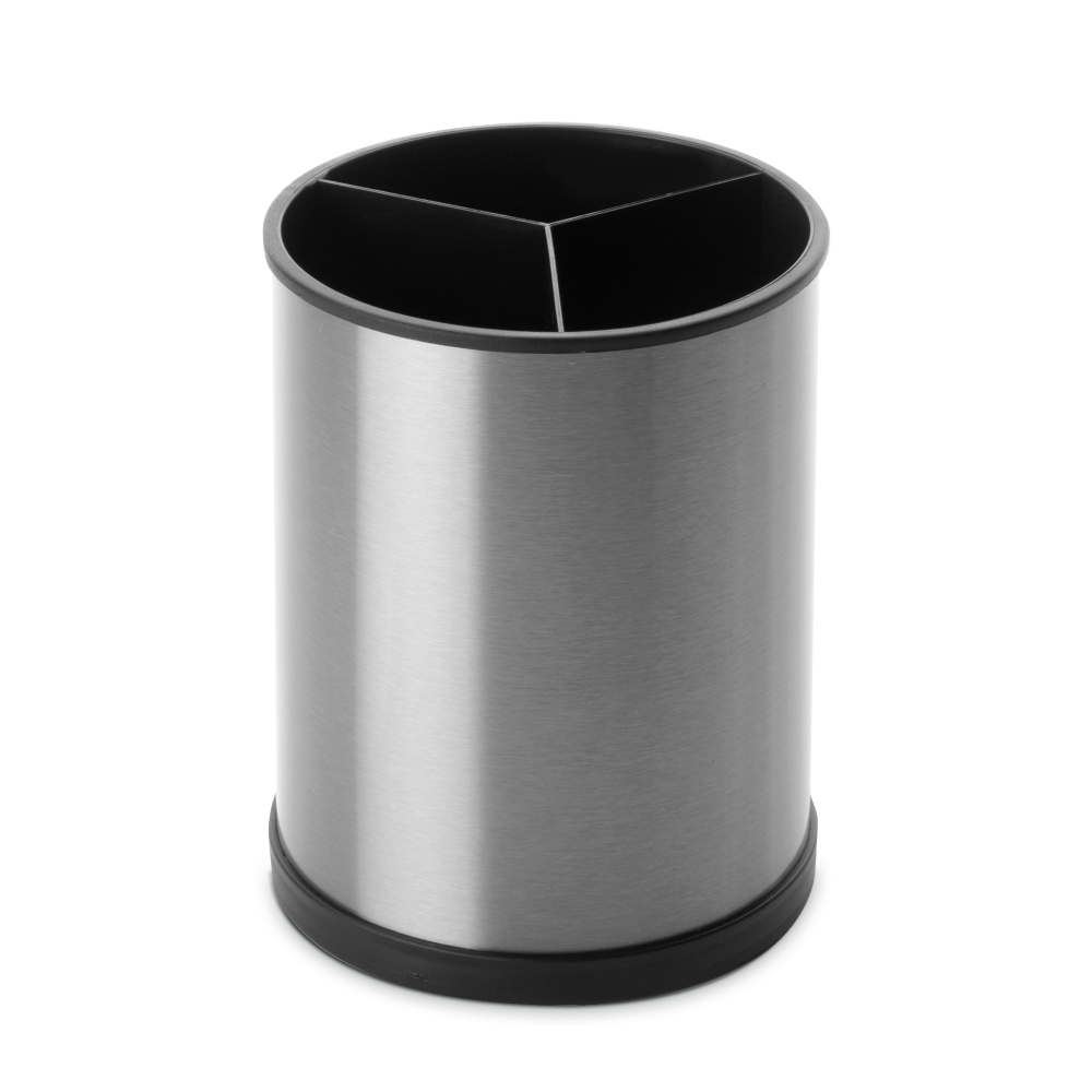 Подставка для кухонных аксессуаров 14х18 см, нержавеющая сталь, пластик IBILI Prisma арт. 797200Органайзеры для раковины<br>вид упаковки:подарочнаявысота (см):18.0диаметр (см):14.0материал:нержавеющая стальпредметов в наборе (штук):1страна:Испания<br><br>Крышки из жароустойчивого стекла серии Prisma от Ibili отличаются стильным дизайном, эргономичными ручками, великолепным исполнением и непревзойденным удобством в эксплуатации. Любое изделие линейки Prisma — это современные инновации в сочетании с оригинальным воплощением смелых творческих идей. Все крышки выполнены из безопасных и качественных материалов, не оказывающих негативного влияния на здоровье человека или окружающую среду.<br>Круглые крышки коллекции Prisma идеально подойдут к сковородам соответствующего диаметра из любых коллекций бренда Ibili. Они плотно накрывают сковороду, а крупная ручка удобно ложится в руку.<br>