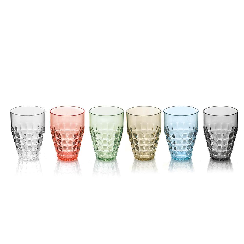 Набор из 6 бокалов Guzzini Tiffany 22570352Бокалы и стаканы<br>Набор из 6 бокалов Guzzini Tiffany 22570352<br><br>Легкий и яркий дизайн бокалов Tiffany будто намекает на освежающие лимонады, бодрящие соки и цитрусовые коктейли. Отличается конической формой и прозрачным материалом, который придает бокалам характерный блеск. Сверкающий эффект усиливается на солнечном свету, поэтому набор бокалов станет отличным решением для подачи напитков на свежем воздухе. Идеально подойдет для использования каждый день - добавит яркий акцент пространству кухни или гостиной.  Объем каждого бокала - 510 мл. Изготовлены из высококачественного органического стекла, устойчивого к износу и повреждениям. Не содержат вредных примесей и бисфенола-А. Можно мыть в посудомоечной машине.<br>Официальный продавец<br>