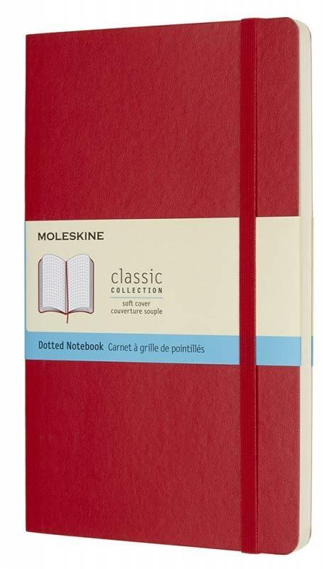 Блокнот Moleskine Classic Soft, цвет красный, пунктирMOLESKINE<br>Количество страниц: 192<br>