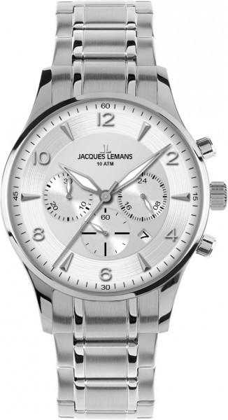 Jacques Lemans 1-1654J - мужские наручные часы из коллекции LondonJacques Lemans<br><br><br>Бренд: Jacques Lemans<br>Модель: Jacques Lemans 1-1654J<br>Артикул: 1-1654J<br>Вариант артикула: None<br>Коллекция: London<br>Подколлекция: None<br>Страна: Австрия<br>Пол: мужские<br>Тип механизма: кварцевые<br>Механизм: None<br>Количество камней: None<br>Автоподзавод: None<br>Источник энергии: от батарейки<br>Срок службы элемента питания: None<br>Дисплей: стрелки<br>Цифры: арабские<br>Водозащита: WR 100<br>Противоударные: None<br>Материал корпуса: нерж. сталь<br>Материал браслета: нерж. сталь<br>Материал безеля: None<br>Стекло: минеральное<br>Антибликовое покрытие: None<br>Цвет корпуса: None<br>Цвет браслета: None<br>Цвет циферблата: None<br>Цвет безеля: None<br>Размеры: 40 мм<br>Диаметр: None<br>Диаметр корпуса: None<br>Толщина: None<br>Ширина ремешка: None<br>Вес: None<br>Спорт-функции: секундомер<br>Подсветка: стрелок<br>Вставка: None<br>Отображение даты: число<br>Хронограф: есть<br>Таймер: None<br>Термометр: None<br>Хронометр: None<br>GPS: None<br>Радиосинхронизация: None<br>Барометр: None<br>Скелетон: None<br>Дополнительная информация: None<br>Дополнительные функции: None