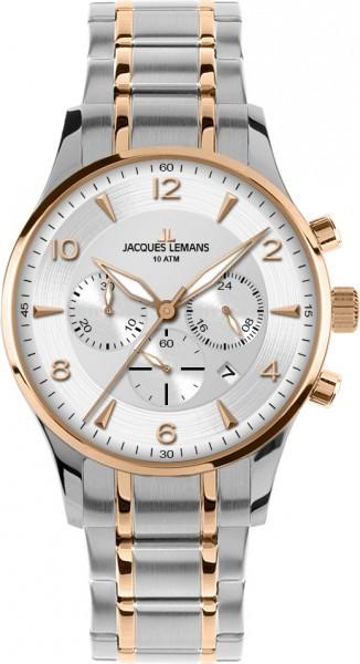 Jacques Lemans 1-1654P - мужские наручные часы из коллекции LondonJacques Lemans<br><br><br>Бренд: Jacques Lemans<br>Модель: Jacques Lemans 1-1654P<br>Артикул: 1-1654P<br>Вариант артикула: None<br>Коллекция: London<br>Подколлекция: None<br>Страна: Австрия<br>Пол: мужские<br>Тип механизма: кварцевые<br>Механизм: None<br>Количество камней: None<br>Автоподзавод: None<br>Источник энергии: от батарейки<br>Срок службы элемента питания: None<br>Дисплей: стрелки<br>Цифры: арабские<br>Водозащита: WR 10<br>Противоударные: None<br>Материал корпуса: нерж. сталь, IP покрытие: позолота (частичное)<br>Материал браслета: нерж. сталь, IP покрытие (частичное): позолота<br>Материал безеля: None<br>Стекло: Crystex<br>Антибликовое покрытие: None<br>Цвет корпуса: None<br>Цвет браслета: None<br>Цвет циферблата: None<br>Цвет безеля: None<br>Размеры: 40 мм<br>Диаметр: None<br>Диаметр корпуса: None<br>Толщина: None<br>Ширина ремешка: None<br>Вес: None<br>Спорт-функции: секундомер<br>Подсветка: стрелок<br>Вставка: None<br>Отображение даты: число<br>Хронограф: есть<br>Таймер: None<br>Термометр: None<br>Хронометр: None<br>GPS: None<br>Радиосинхронизация: None<br>Барометр: None<br>Скелетон: None<br>Дополнительная информация: None<br>Дополнительные функции: None
