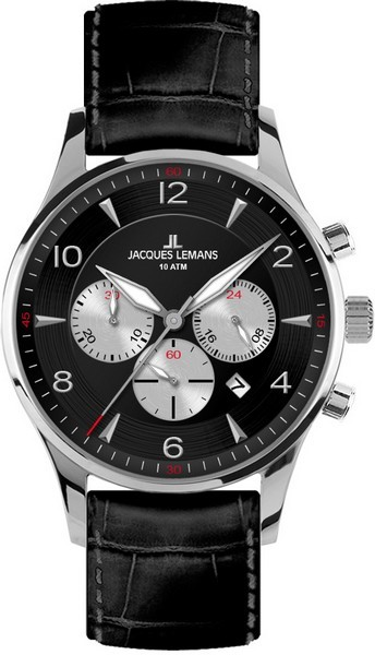 Jacques Lemans 1-1654A - мужские наручные часы из коллекции LondonJacques Lemans<br><br><br>Бренд: Jacques Lemans<br>Модель: Jacques Lemans 1-1654A<br>Артикул: 1-1654A<br>Вариант артикула: None<br>Коллекция: London<br>Подколлекция: None<br>Страна: Австрия<br>Пол: мужские<br>Тип механизма: кварцевые<br>Механизм: None<br>Количество камней: None<br>Автоподзавод: None<br>Источник энергии: от батарейки<br>Срок службы элемента питания: None<br>Дисплей: стрелки<br>Цифры: арабские<br>Водозащита: WR 10<br>Противоударные: None<br>Материал корпуса: нерж. сталь<br>Материал браслета: кожа<br>Материал безеля: None<br>Стекло: Crystex<br>Антибликовое покрытие: None<br>Цвет корпуса: None<br>Цвет браслета: None<br>Цвет циферблата: None<br>Цвет безеля: None<br>Размеры: 40 мм<br>Диаметр: None<br>Диаметр корпуса: None<br>Толщина: None<br>Ширина ремешка: None<br>Вес: None<br>Спорт-функции: секундомер<br>Подсветка: стрелок<br>Вставка: None<br>Отображение даты: число<br>Хронограф: есть<br>Таймер: None<br>Термометр: None<br>Хронометр: None<br>GPS: None<br>Радиосинхронизация: None<br>Барометр: None<br>Скелетон: None<br>Дополнительная информация: None<br>Дополнительные функции: None