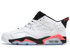 Кроссовки Мужские Nike Air Jordan VI Low White Black Coral