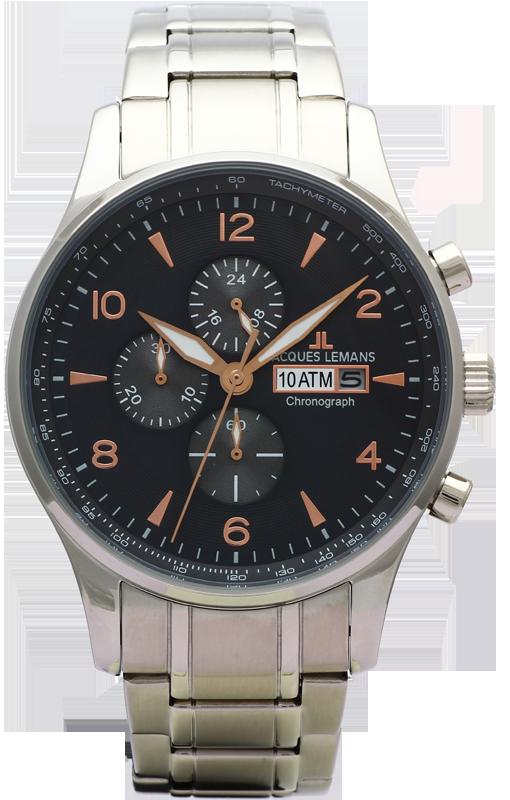 Jacques Lemans 1-1844K - мужские наручные часы из коллекции ClassicJacques Lemans<br><br><br>Бренд: Jacques Lemans<br>Модель: Jacques Lemans 1-1844K<br>Артикул: 1-1844K<br>Вариант артикула: None<br>Коллекция: Classic<br>Подколлекция: None<br>Страна: Австрия<br>Пол: мужские<br>Тип механизма: кварцевые<br>Механизм: None<br>Количество камней: None<br>Автоподзавод: None<br>Источник энергии: от батарейки<br>Срок службы элемента питания: None<br>Дисплей: стрелки<br>Цифры: арабские<br>Водозащита: WR 10<br>Противоударные: None<br>Материал корпуса: нерж. сталь<br>Материал браслета: нерж. сталь<br>Материал безеля: None<br>Стекло: Crystex<br>Антибликовое покрытие: None<br>Цвет корпуса: None<br>Цвет браслета: None<br>Цвет циферблата: None<br>Цвет безеля: None<br>Размеры: 44 мм<br>Диаметр: None<br>Диаметр корпуса: None<br>Толщина: None<br>Ширина ремешка: None<br>Вес: None<br>Спорт-функции: секундомер<br>Подсветка: стрелок<br>Вставка: None<br>Отображение даты: число<br>Хронограф: есть<br>Таймер: None<br>Термометр: None<br>Хронометр: None<br>GPS: None<br>Радиосинхронизация: None<br>Барометр: None<br>Скелетон: None<br>Дополнительная информация: None<br>Дополнительные функции: None