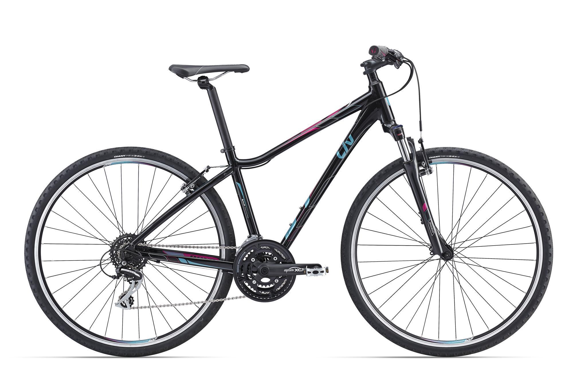 Giant Rove 3 DD (2016)Дорожные<br>Если взять скорость шоссейного велосипеда, совместить ее с комфортом горного, добавить туда специально разработанную женскую геометрию Liv от Giant и красивый внешний вид, то получится именно такая радующая глаз модель – Rove 3 DD от Giant. На своих больших колесах 700с он оказался очень скоростным, не потеряв в маневренности и удобстве.<br>Рама разработана с учетом нюансов женского строения, ее также сделали очень легкой - в этом помог специальный алюминиевый сплав ALUXX. На нем установлена амортизационная вилка с блокировкой и переключение на 24 скорости. В раме предусмотрены крепления под дисковый тормоз на случай, если захочется чего-то большего.<br>