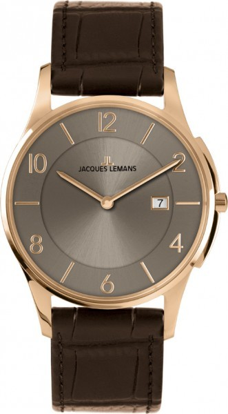 Jacques Lemans 1-1777Y - мужские наручные часы из коллекции LondonJacques Lemans<br><br><br>Бренд: Jacques Lemans<br>Модель: Jacques Lemans 1-1777Y<br>Артикул: 1-1777Y<br>Вариант артикула: None<br>Коллекция: London<br>Подколлекция: None<br>Страна: Австрия<br>Пол: мужские<br>Тип механизма: кварцевые<br>Механизм: None<br>Количество камней: None<br>Автоподзавод: None<br>Источник энергии: от батарейки<br>Срок службы элемента питания: None<br>Дисплей: стрелки<br>Цифры: арабские<br>Водозащита: WR 5<br>Противоударные: None<br>Материал корпуса: нерж. сталь, IP покрытие (полное)<br>Материал браслета: кожа<br>Материал безеля: None<br>Стекло: Crystex<br>Антибликовое покрытие: None<br>Цвет корпуса: None<br>Цвет браслета: None<br>Цвет циферблата: None<br>Цвет безеля: None<br>Размеры: 38 мм<br>Диаметр: None<br>Диаметр корпуса: None<br>Толщина: None<br>Ширина ремешка: None<br>Вес: None<br>Спорт-функции: None<br>Подсветка: None<br>Вставка: None<br>Отображение даты: число<br>Хронограф: None<br>Таймер: None<br>Термометр: None<br>Хронометр: None<br>GPS: None<br>Радиосинхронизация: None<br>Барометр: None<br>Скелетон: None<br>Дополнительная информация: None<br>Дополнительные функции: None